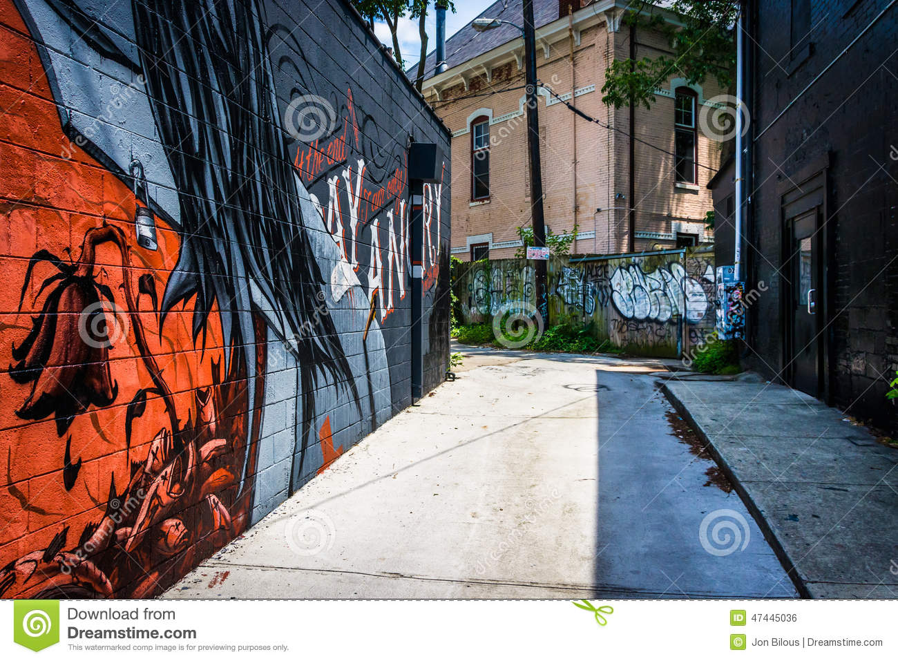 Graffiti wall atlanta - Graffiti In An Alley In Little Five Points Atlanta Georgia Royalty Free Stock