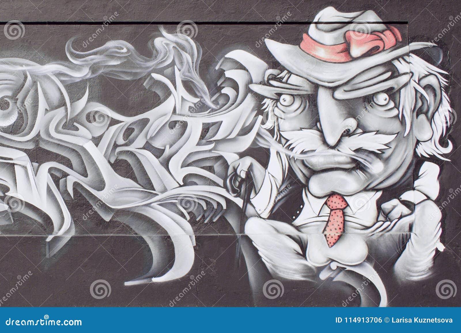 Graffiti By American Writer Mark Twain