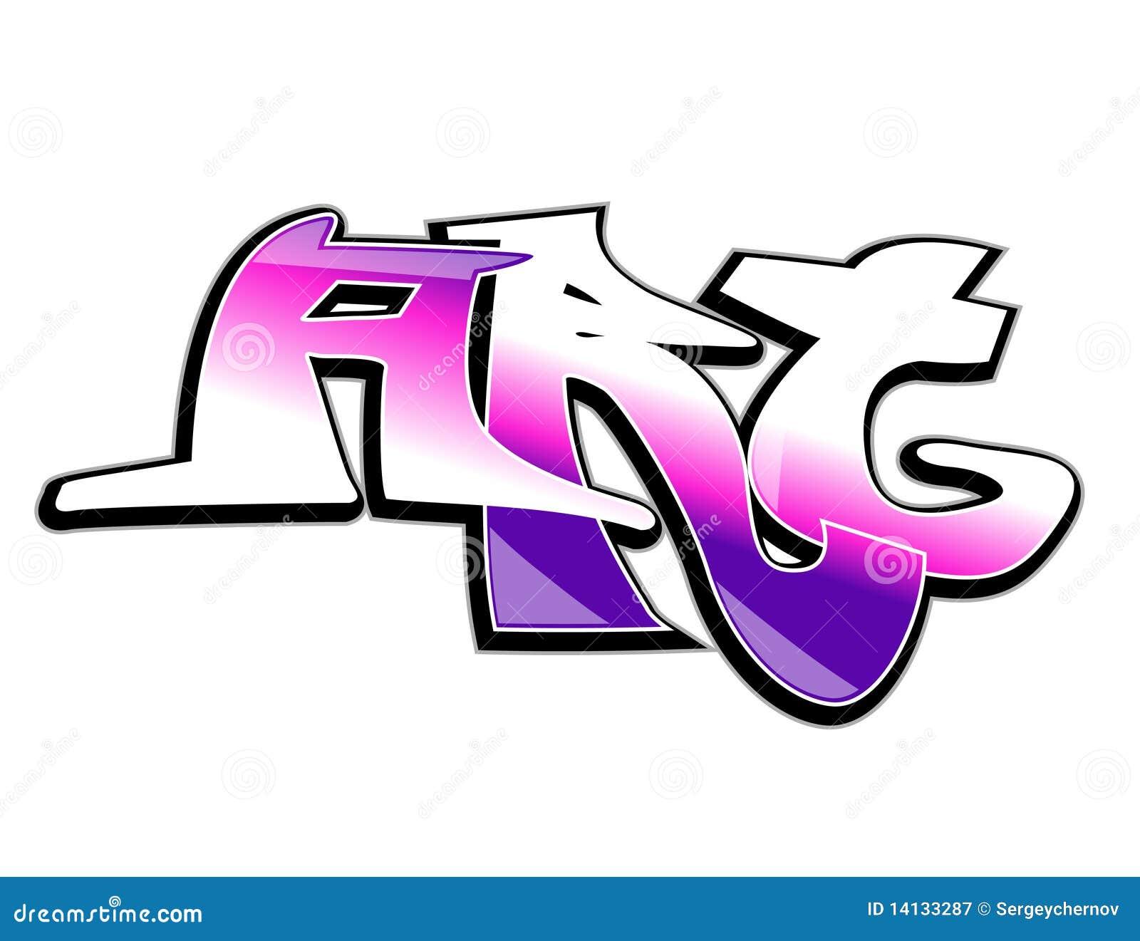 Art Design : Graffiti art design stock vector image of banner