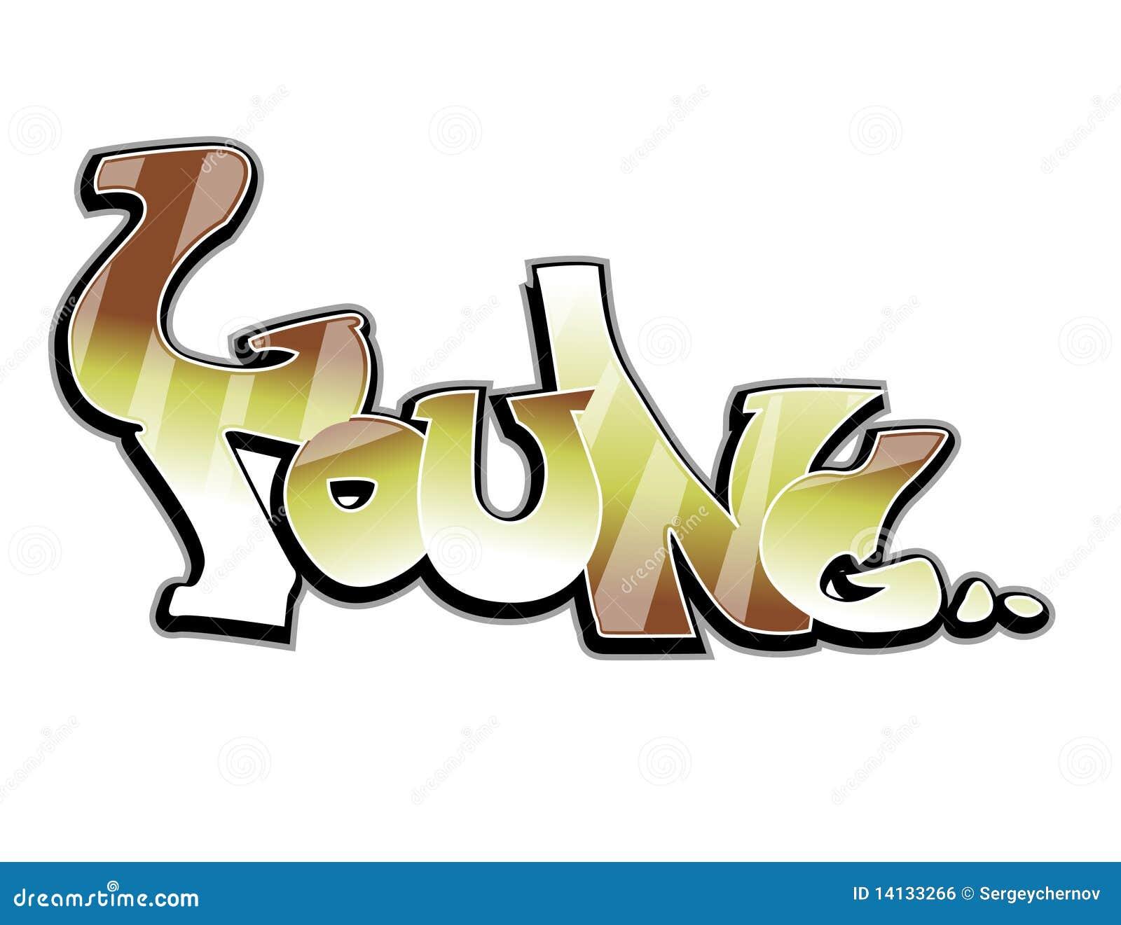 Graffiti art design - Graffiti Art Design Young Royalty Free Stock Image