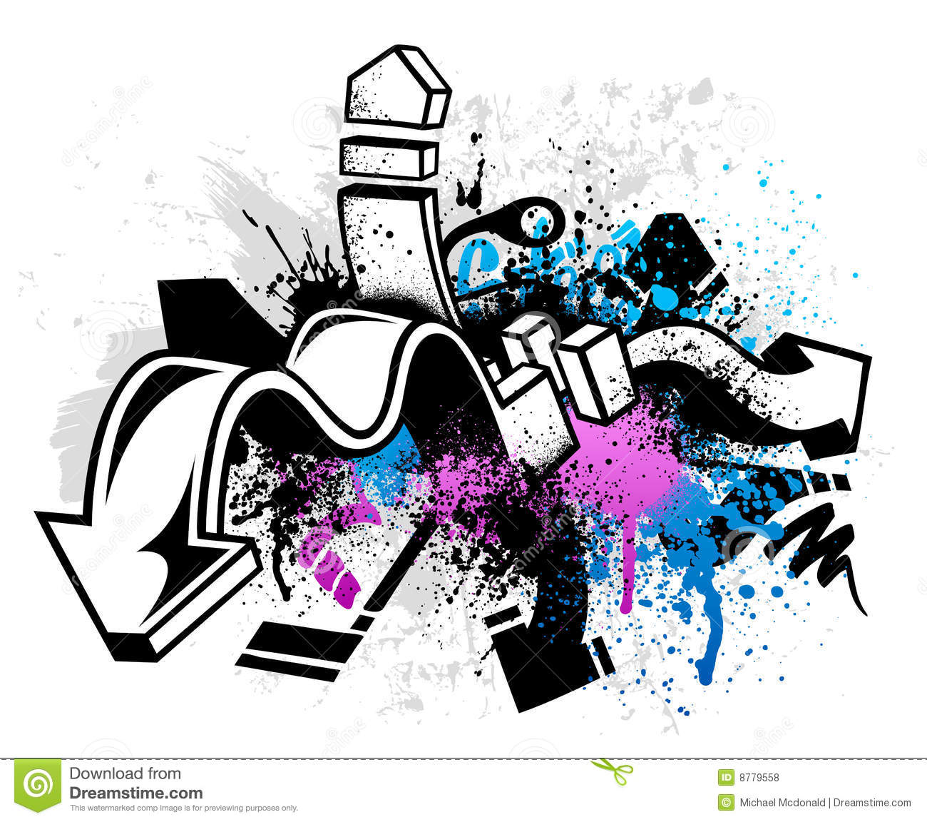 Graffiti Background Royalty Free Stock Photos Image 8779558
