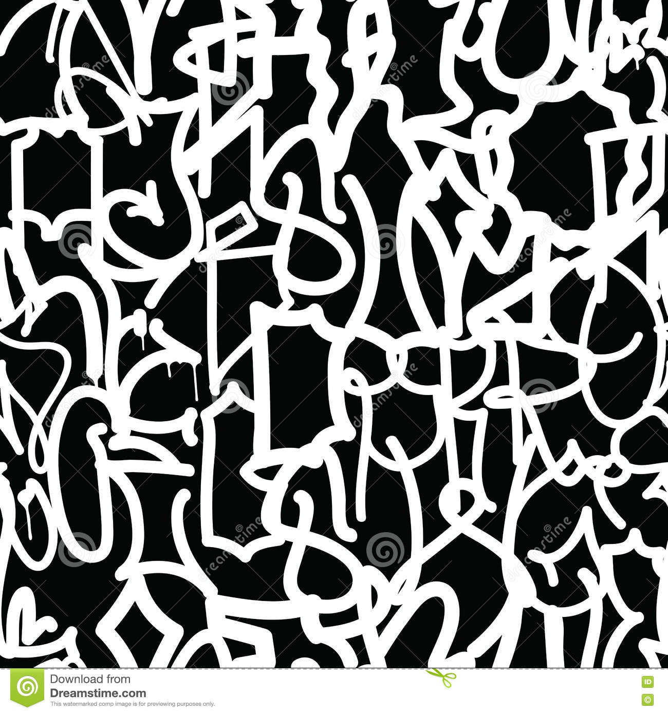 Vector Graffiti Tags Monocrome Background Download Free Vector Art Stock Graphics Images
