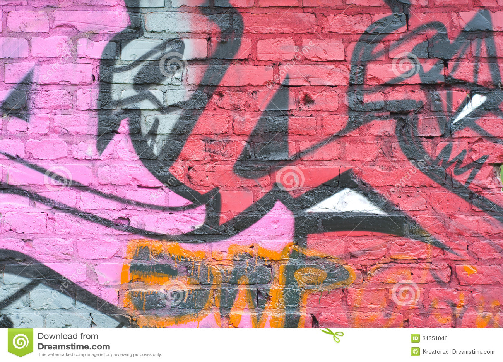 Graffiti Brick Wall Editorial Photo Image 31351046