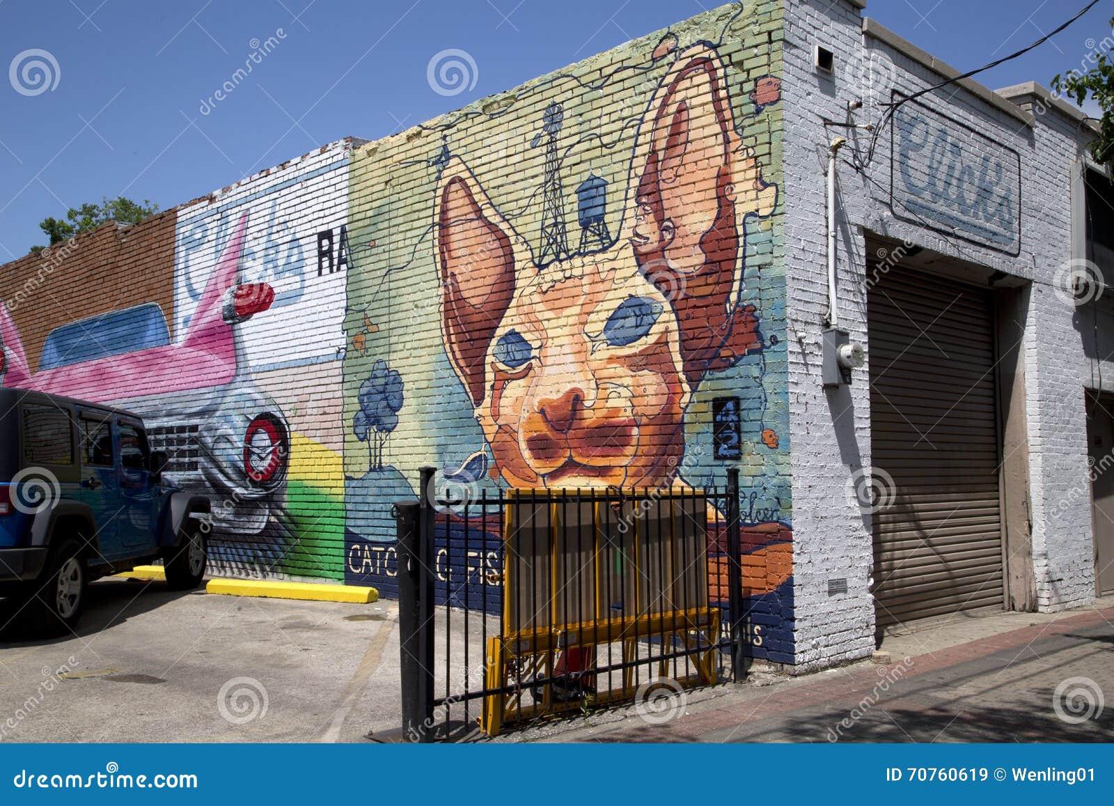 Graffiti wall dallas - Graffiti On Brick Wall Of Restaurant