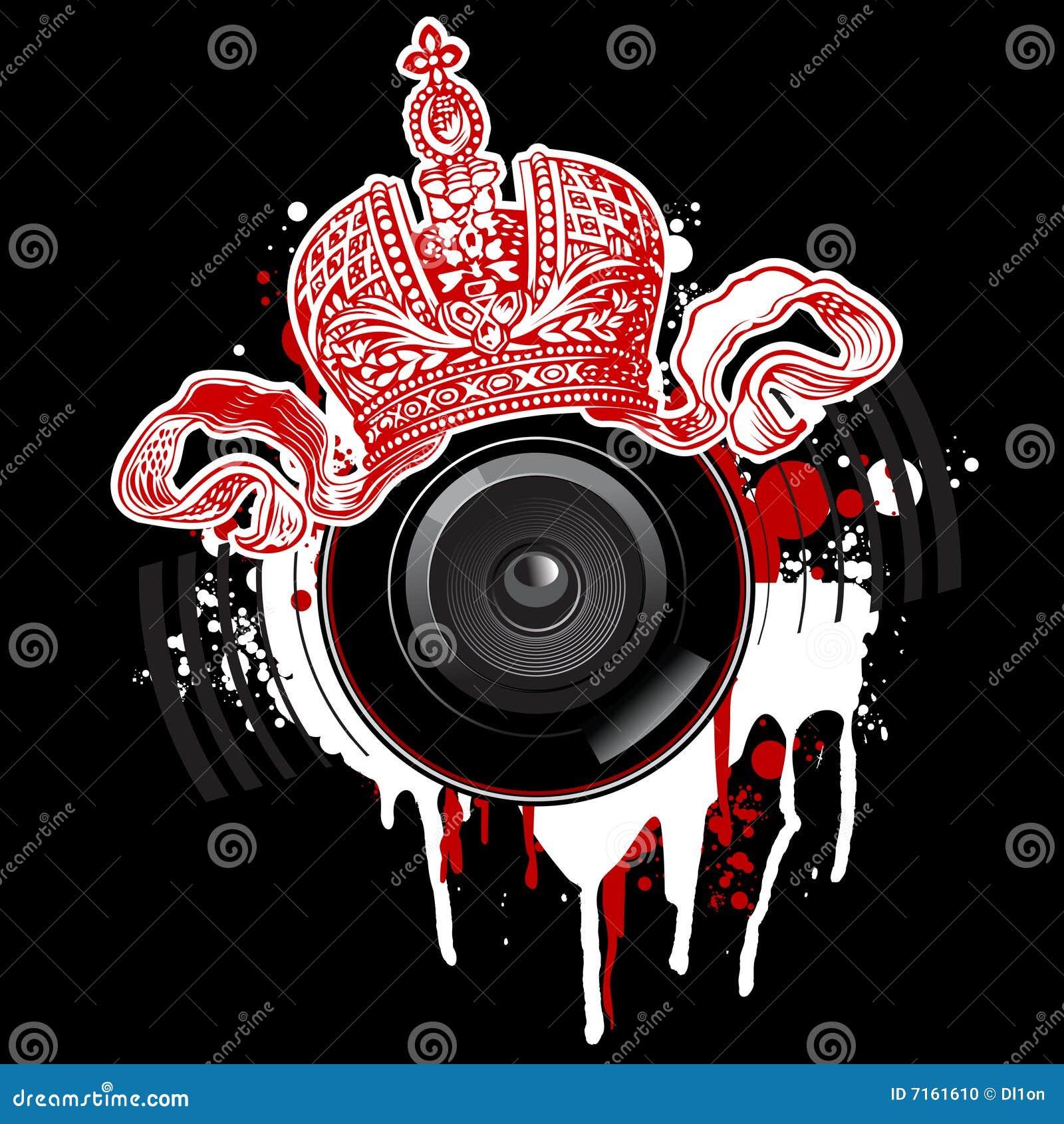Graffiti Crown And Loudspeaker