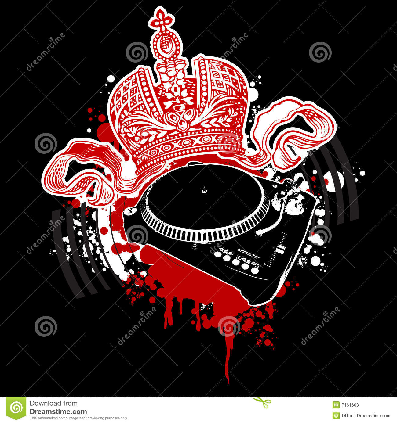 Graffiti Crown And Turntable