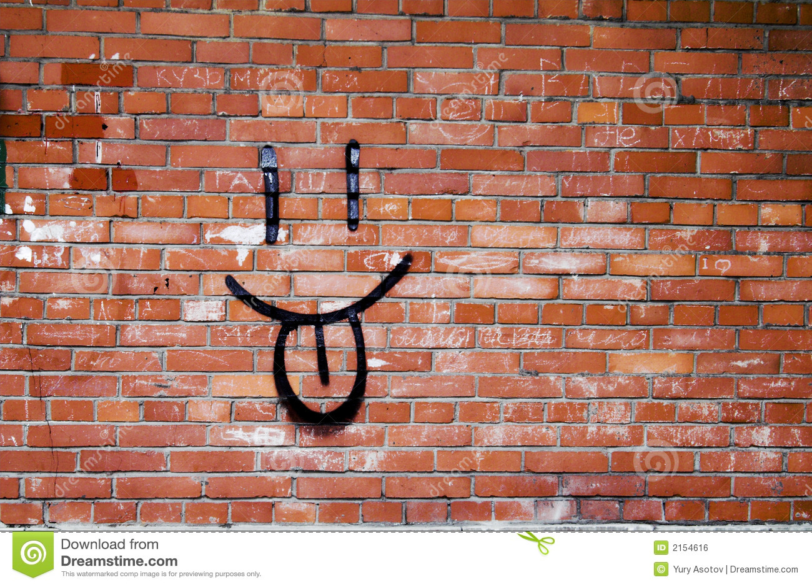 Graffiti de mur de briques et de sourire photo stock image du rep re illustration 2154616 - Mur privatif droit et devoir ...