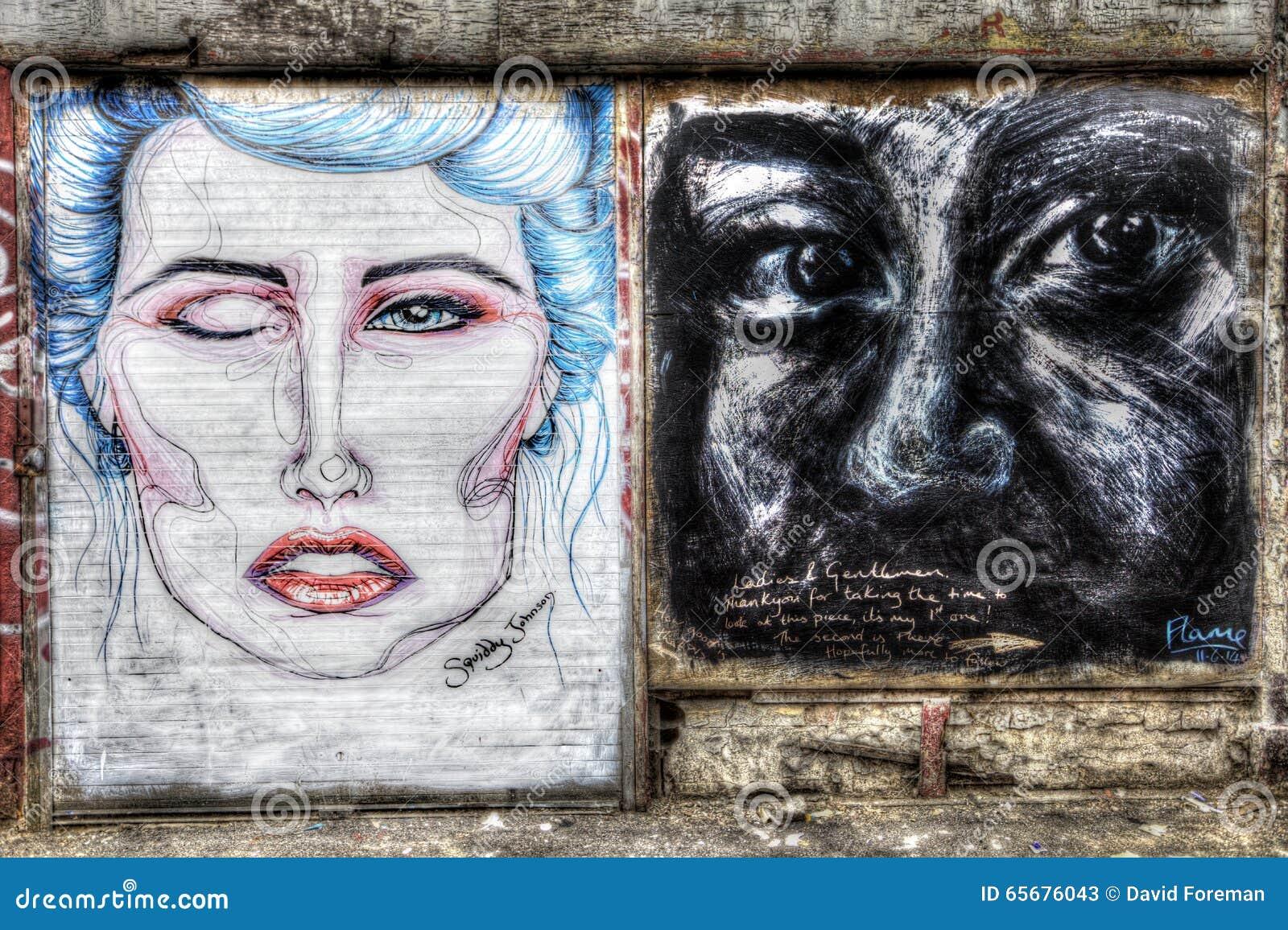 Graffiti de Oost- van Londen