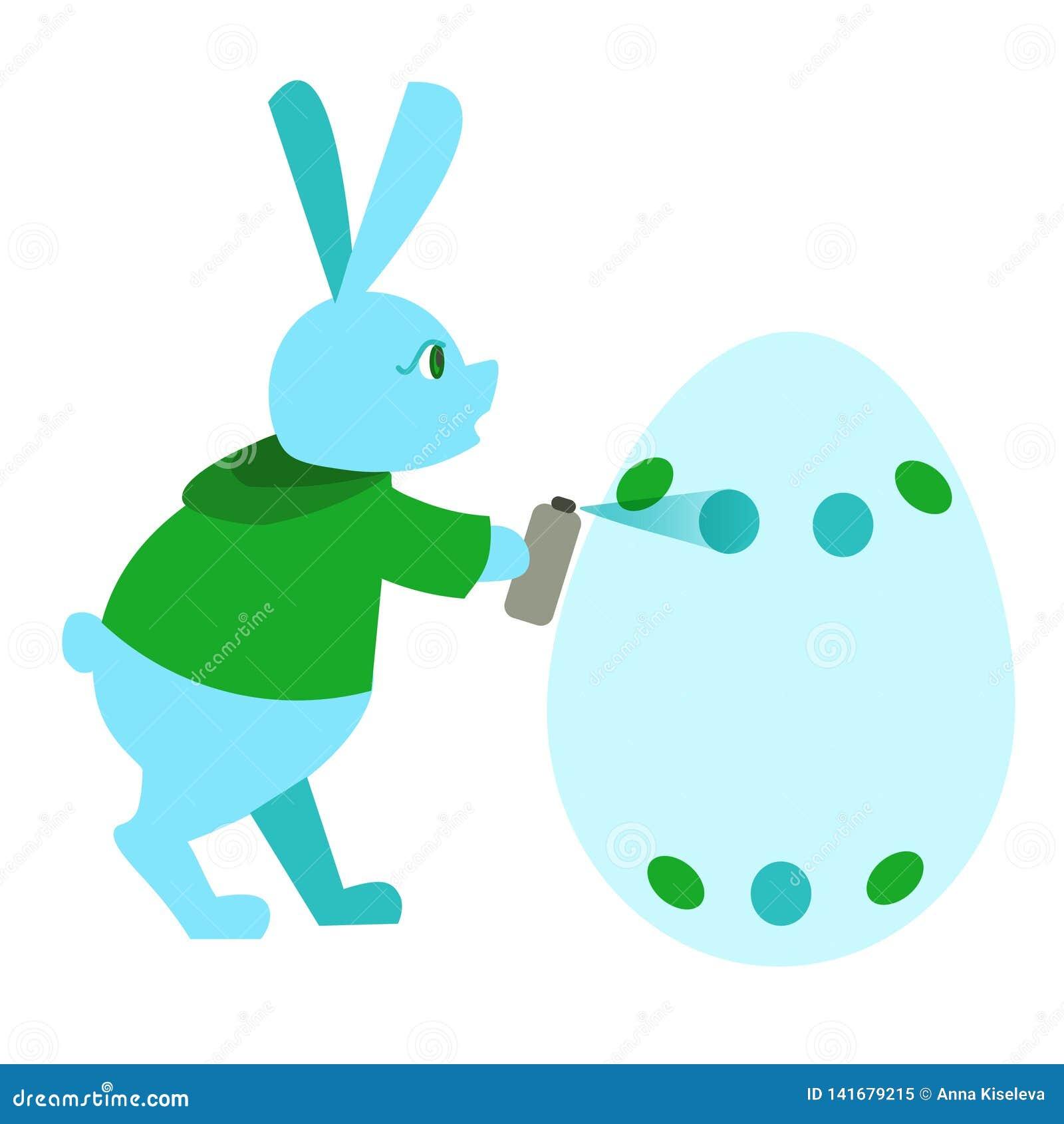 Graffiti de peinture de lapin de Pâques de couleur pour la carte de voeux, annonce, promotion, affiche, insecte, blog, article