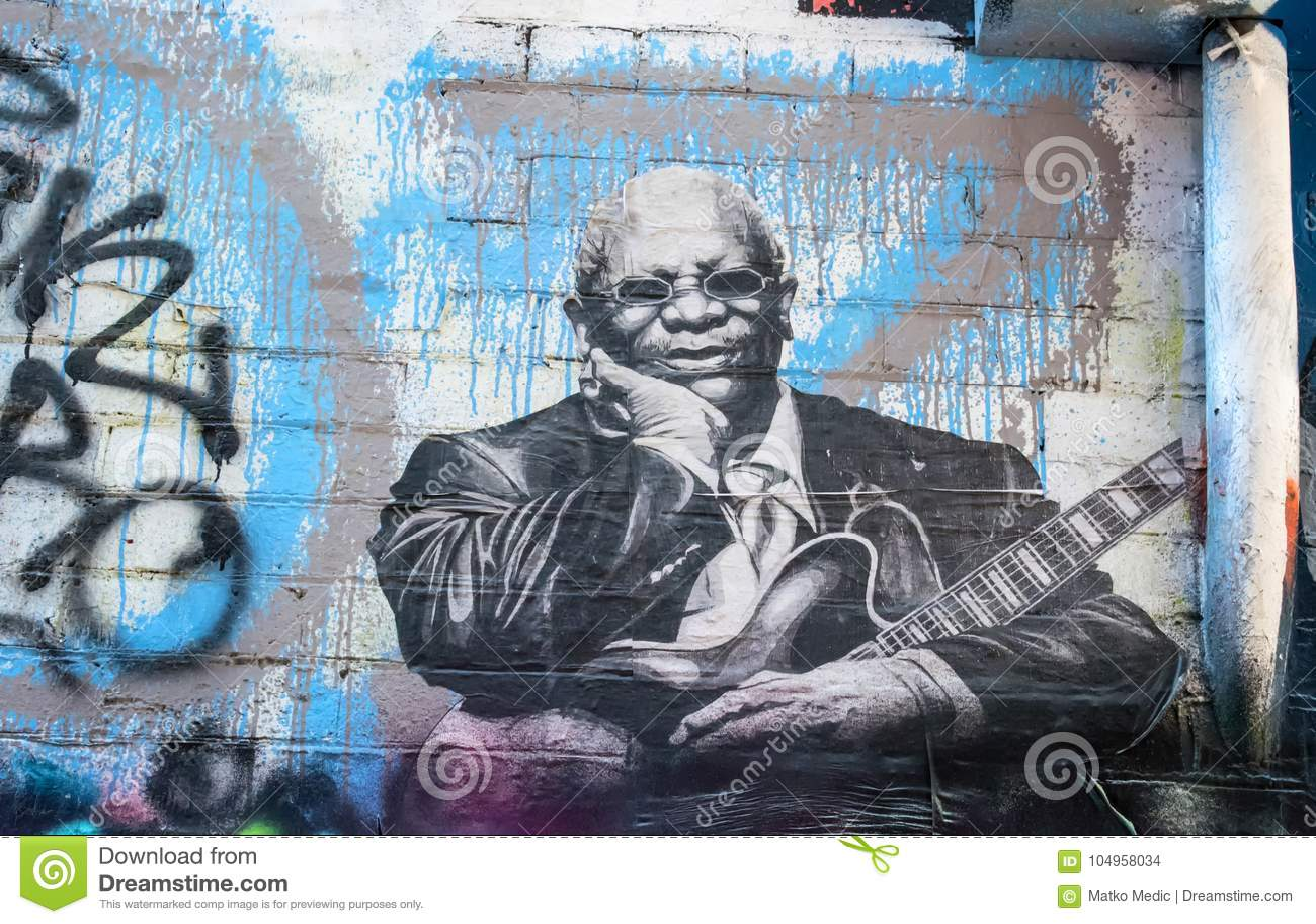 Graffiti de roi de BB