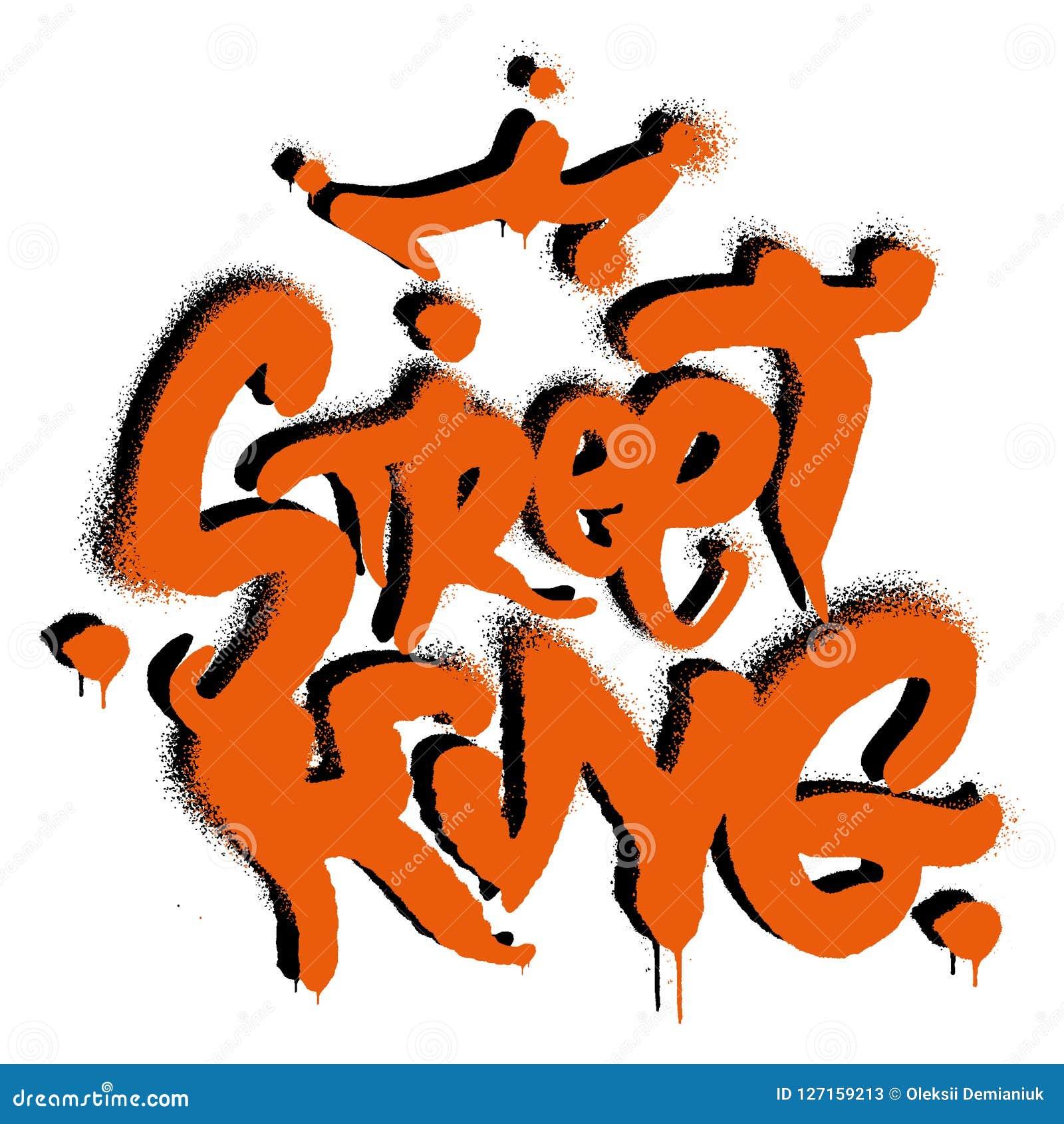 Graffiti de roi de rue