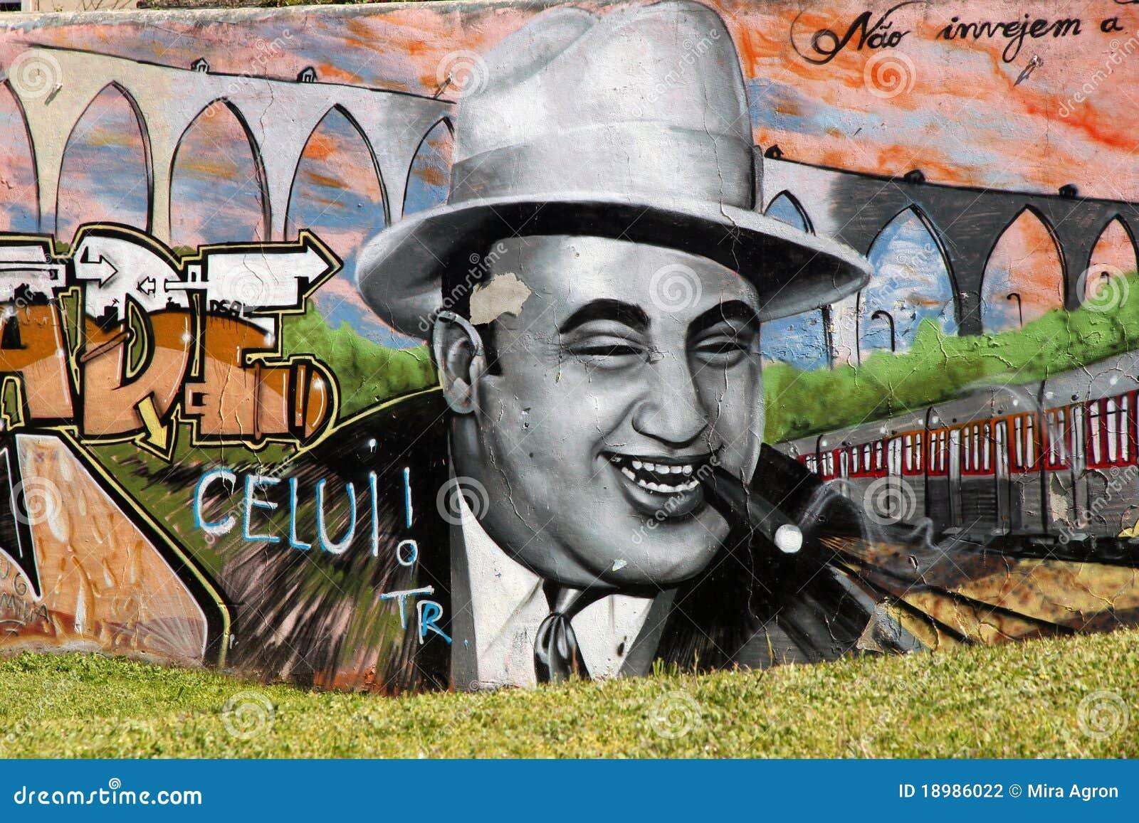 Graffiti di Capone di Al.