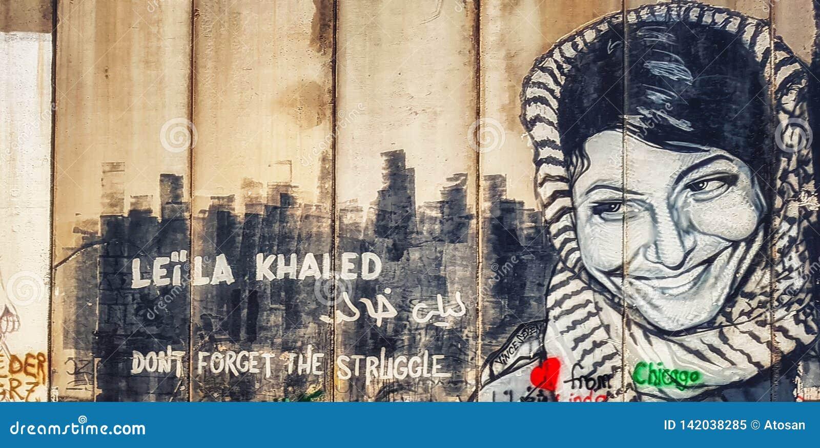 Graffiti di Leila Khaled