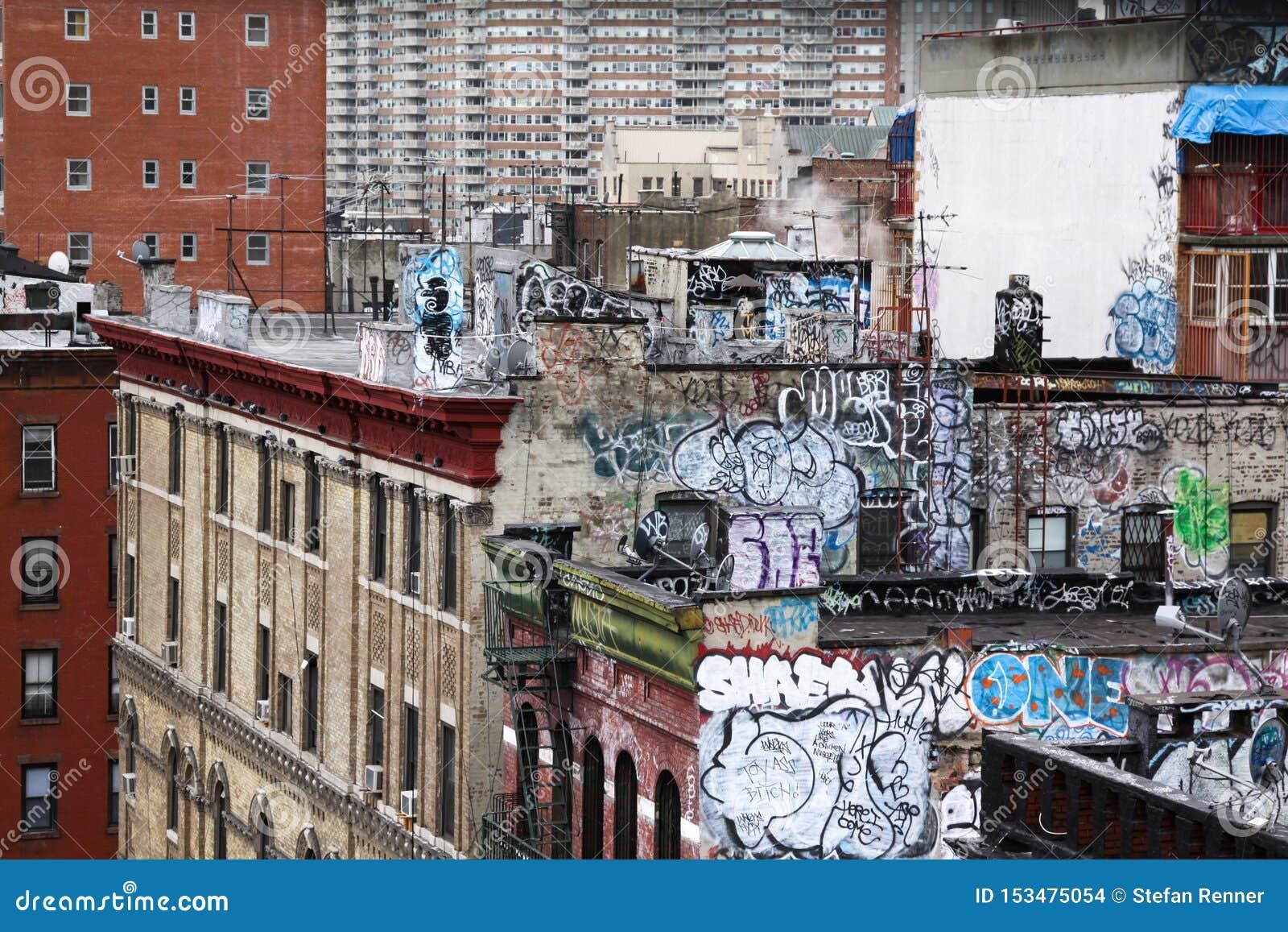 Graffiti domu ściana