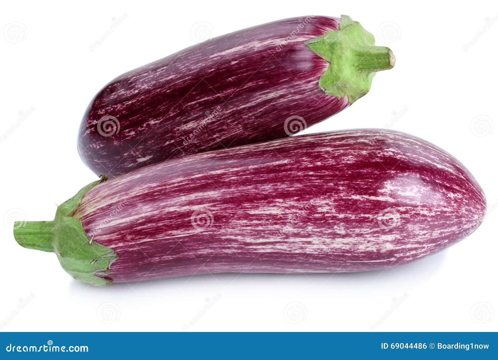 Graffiti eggplant eggplants aubergine vegetable isolated on a white background
