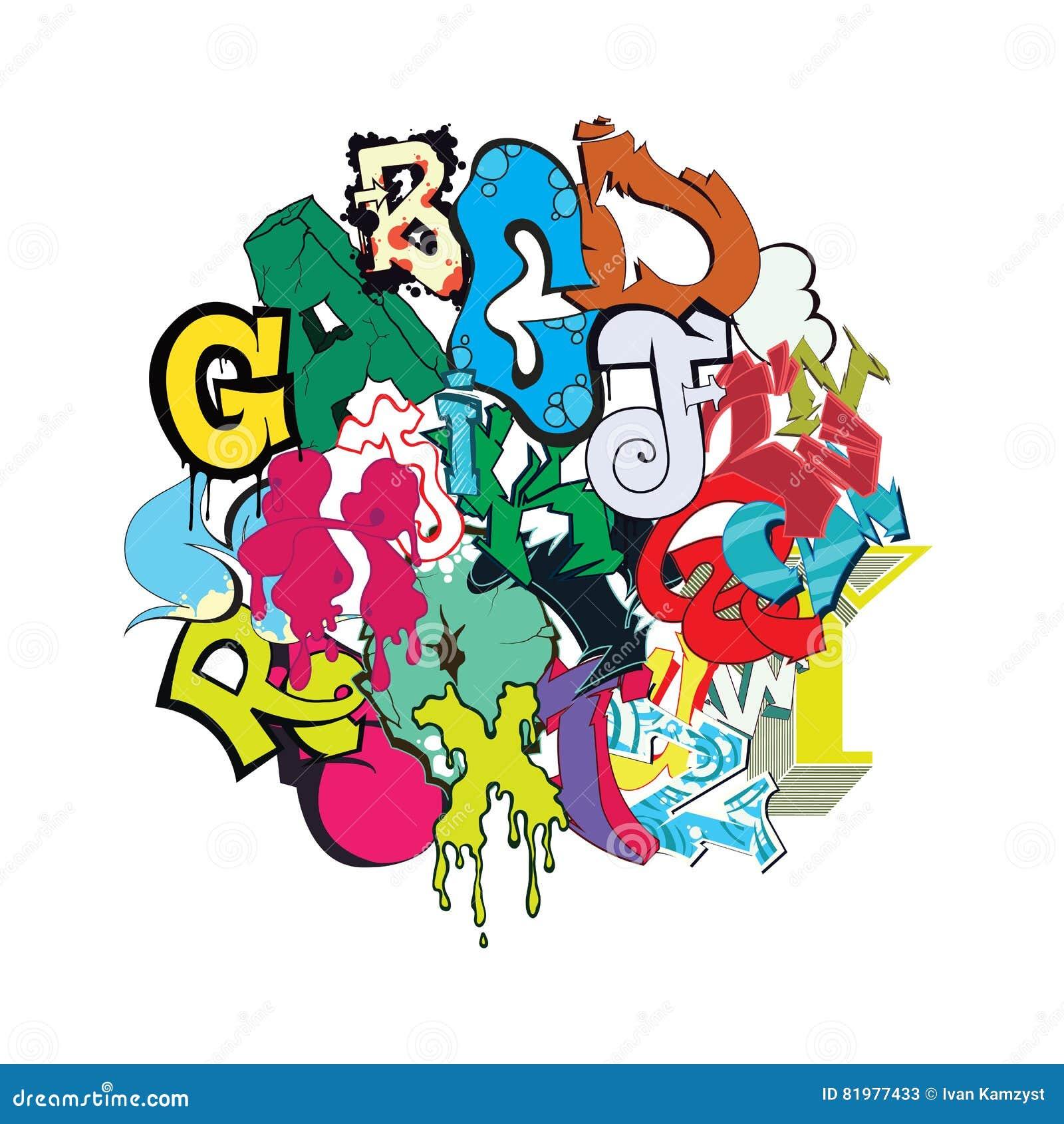 Graffiti Font Color