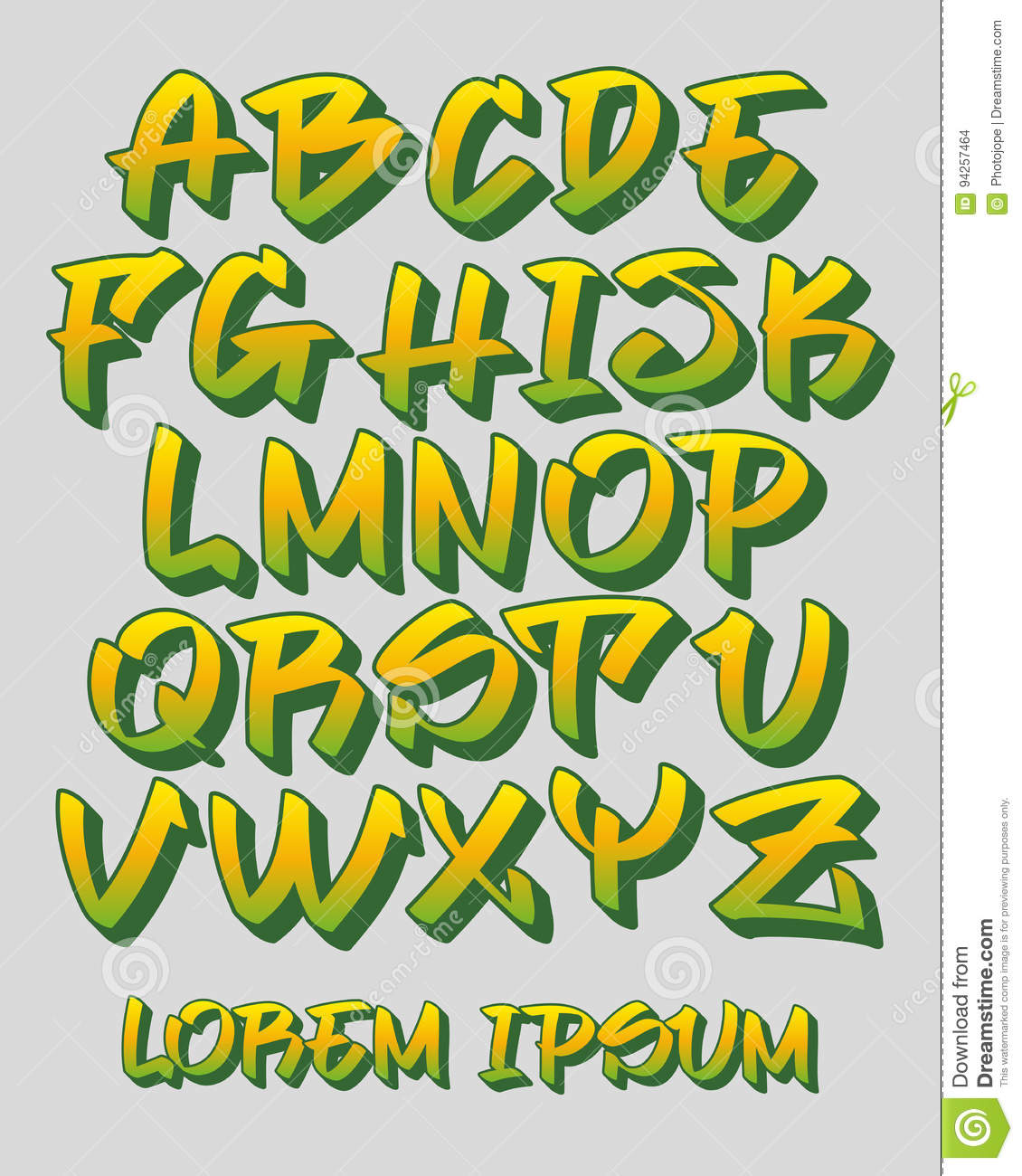 Old Fashioned Colors Letters Ornament - Coloring Page ...