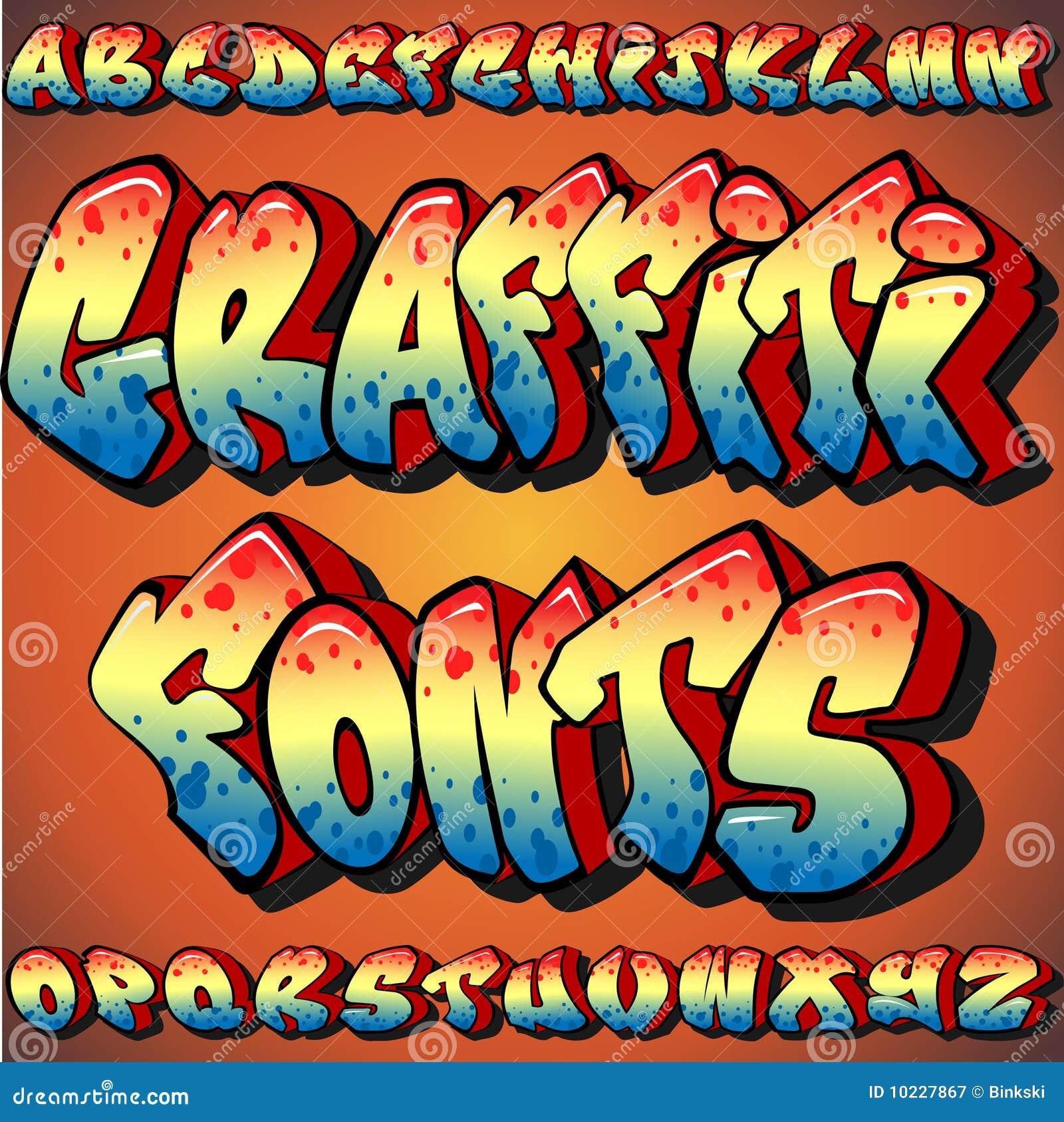 Graffiti fonts graffiti fonts royalty free stock photography image 10227867