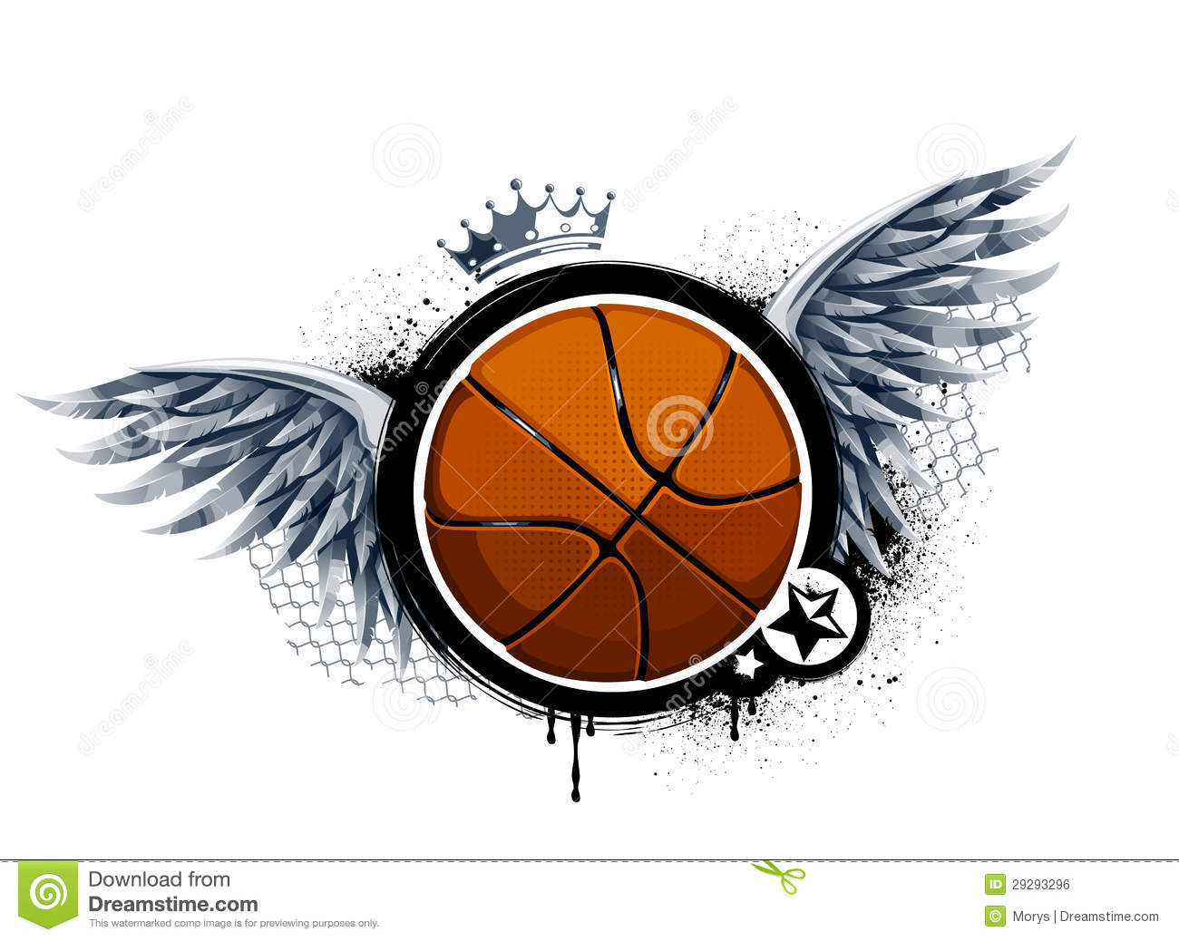 Graffiti Image With Basketball Stock Vector Illustration Of