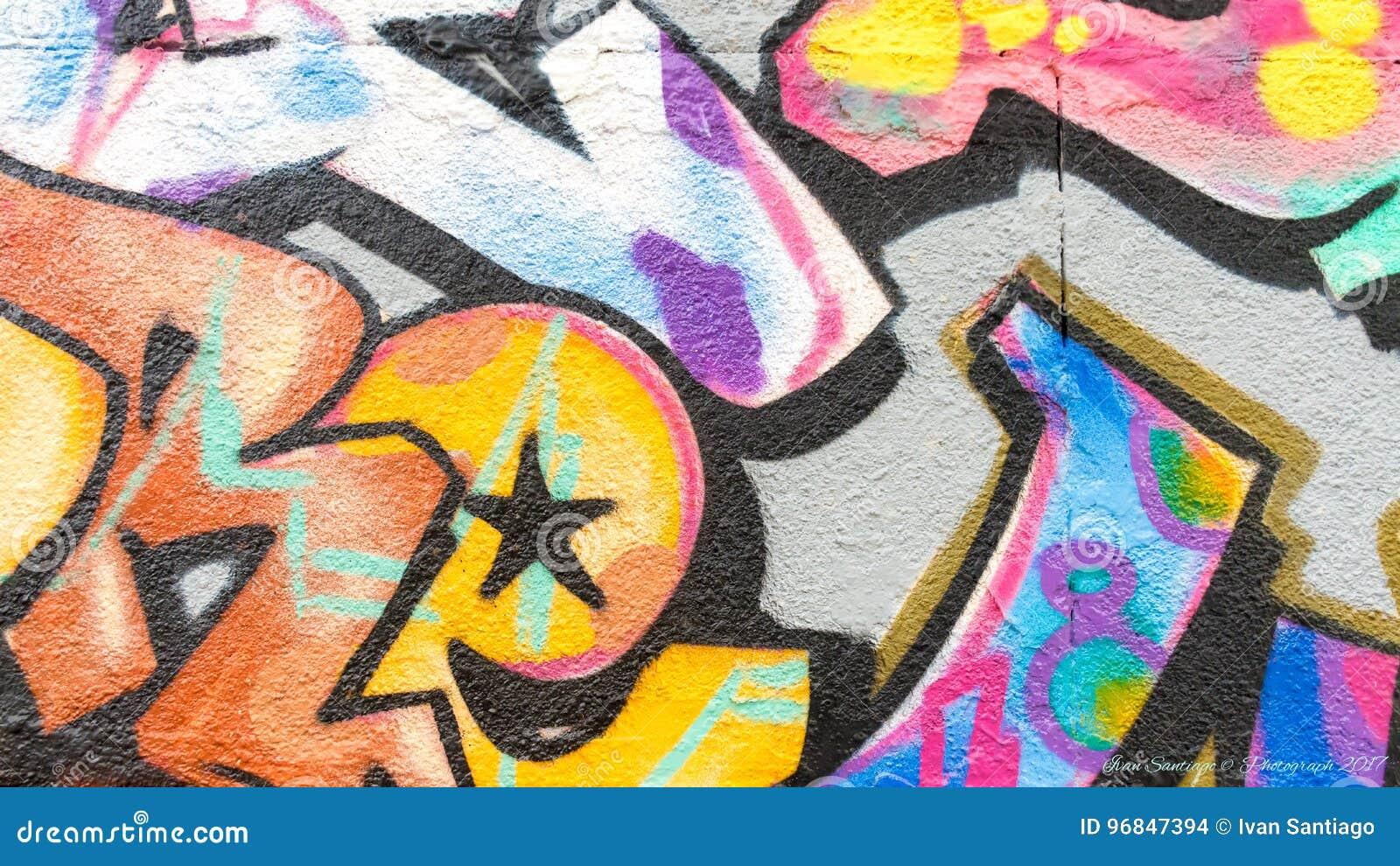 Graffiti kolory i linie