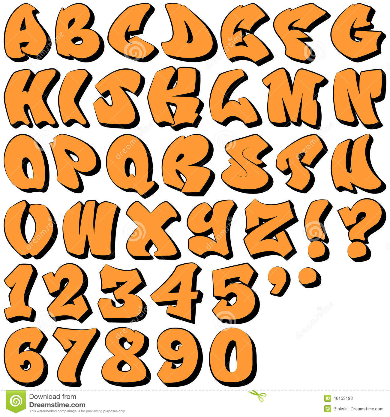 Graffiti Letters And Numbers Stock Vector Illustration Of Grunge