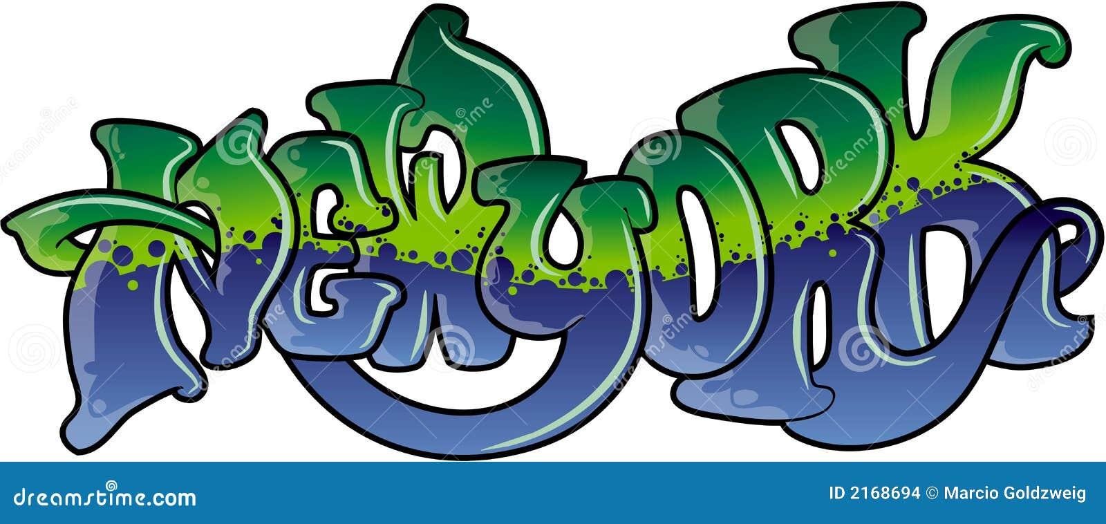 New York style graffiti paint.