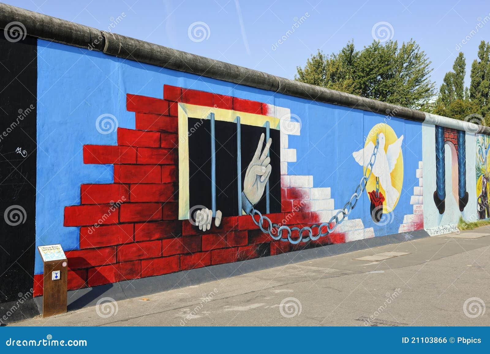 Graffiti op de muur van berlijn bij het zijalbum van het oosten redactionele foto afbeelding - Muur van de ingang ...