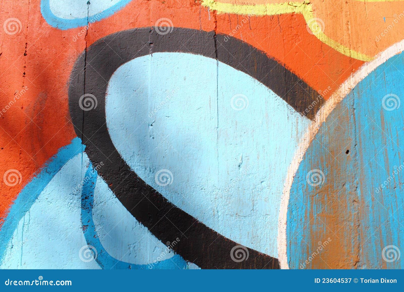 Cement Wall Graffiti : Graffiti painted concrete wall royalty free stock