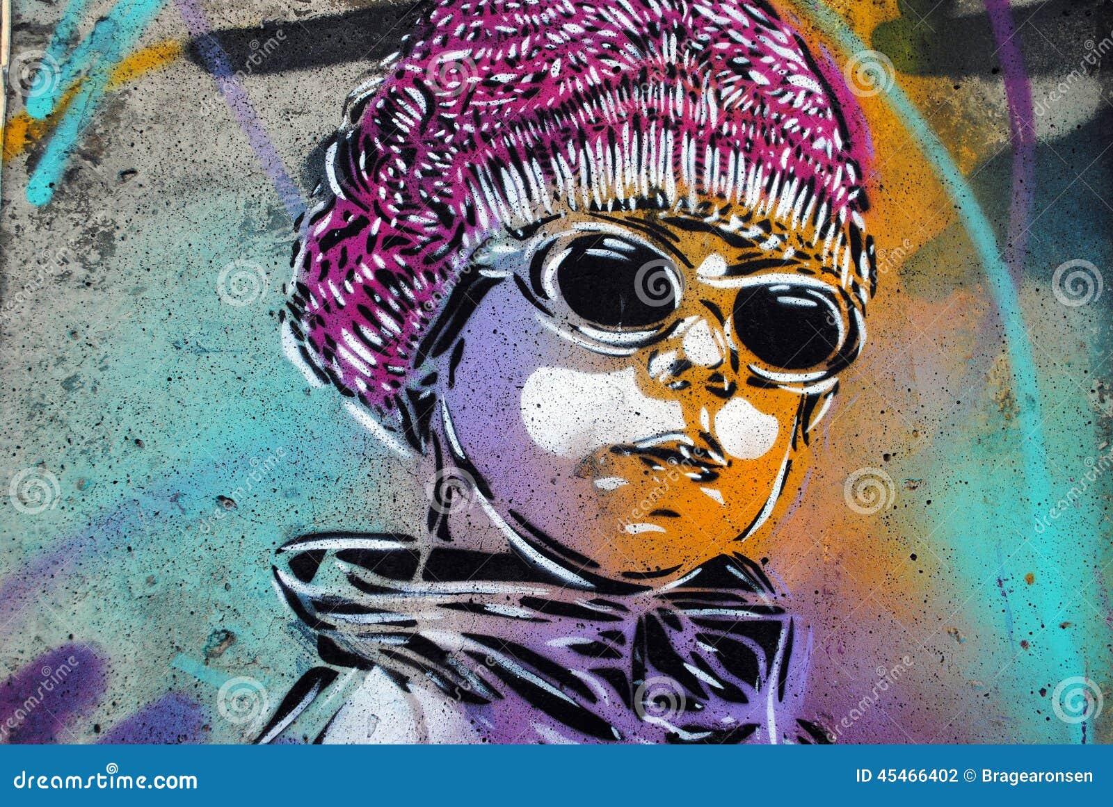 Grafitti art oslo - Editorial Stock Photo