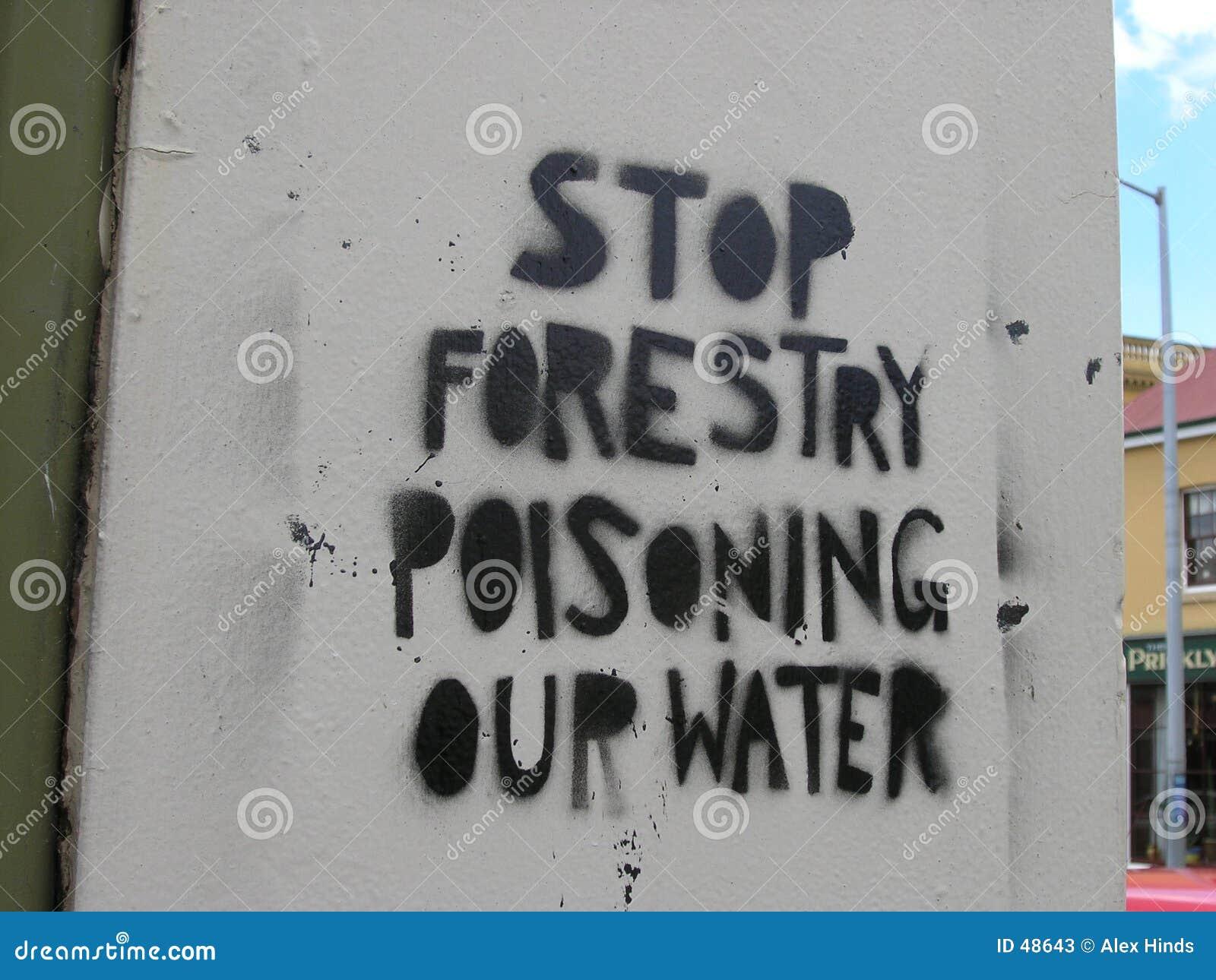 Graffiti protest