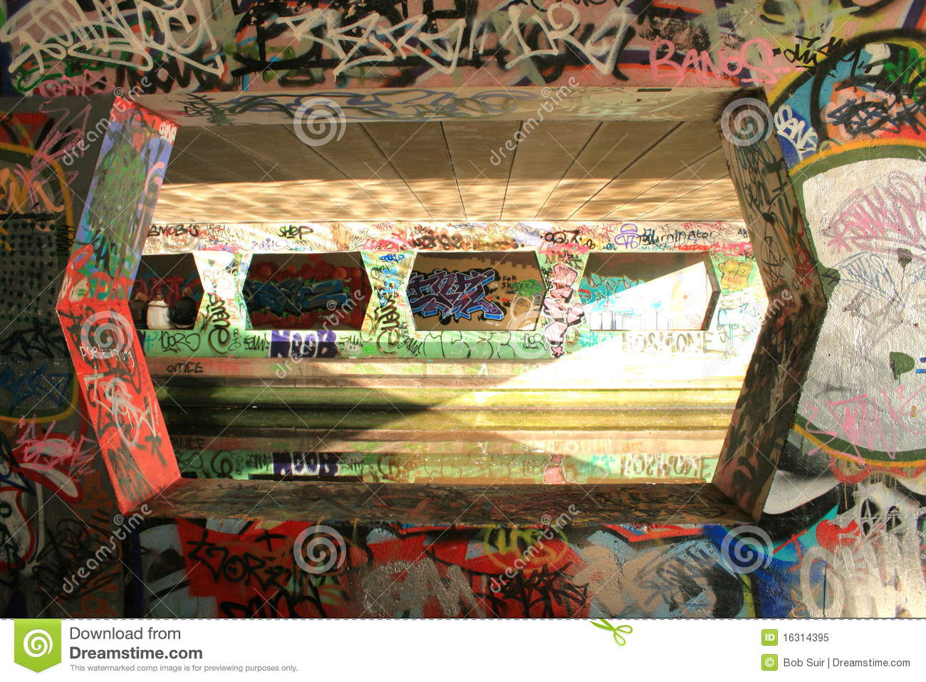 Graffiti reflection editorial image image 16314395 - The water street magical town in holland ...