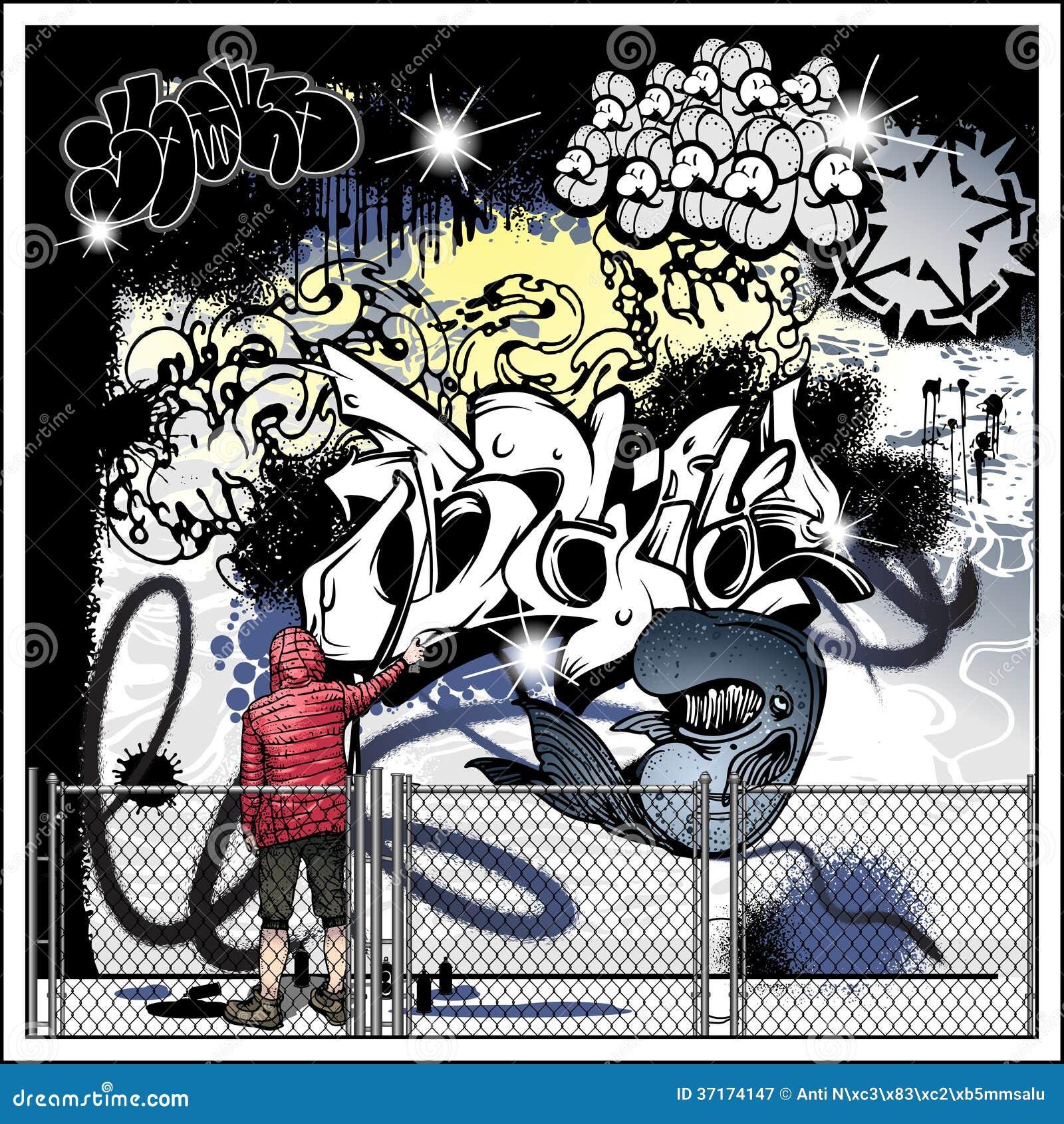 Graffiti wall vector free - Art Artist Graffiti Street Vector Wall