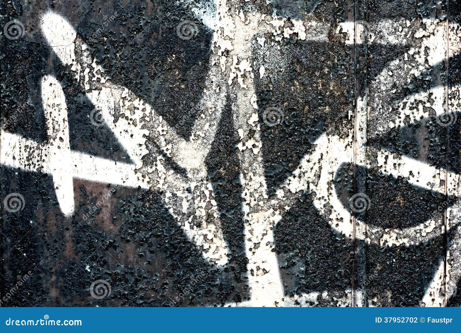 Graffiti su una parete - dettaglio di un graffito dipinto su una parete