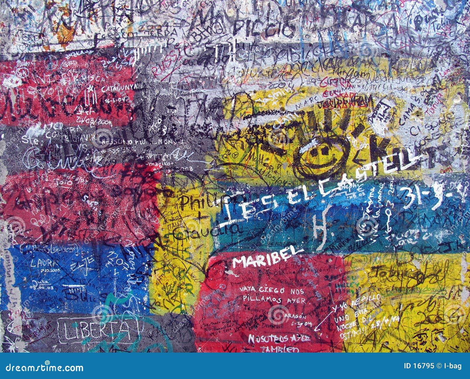 Graffiti sul vecchio muro di Berlino