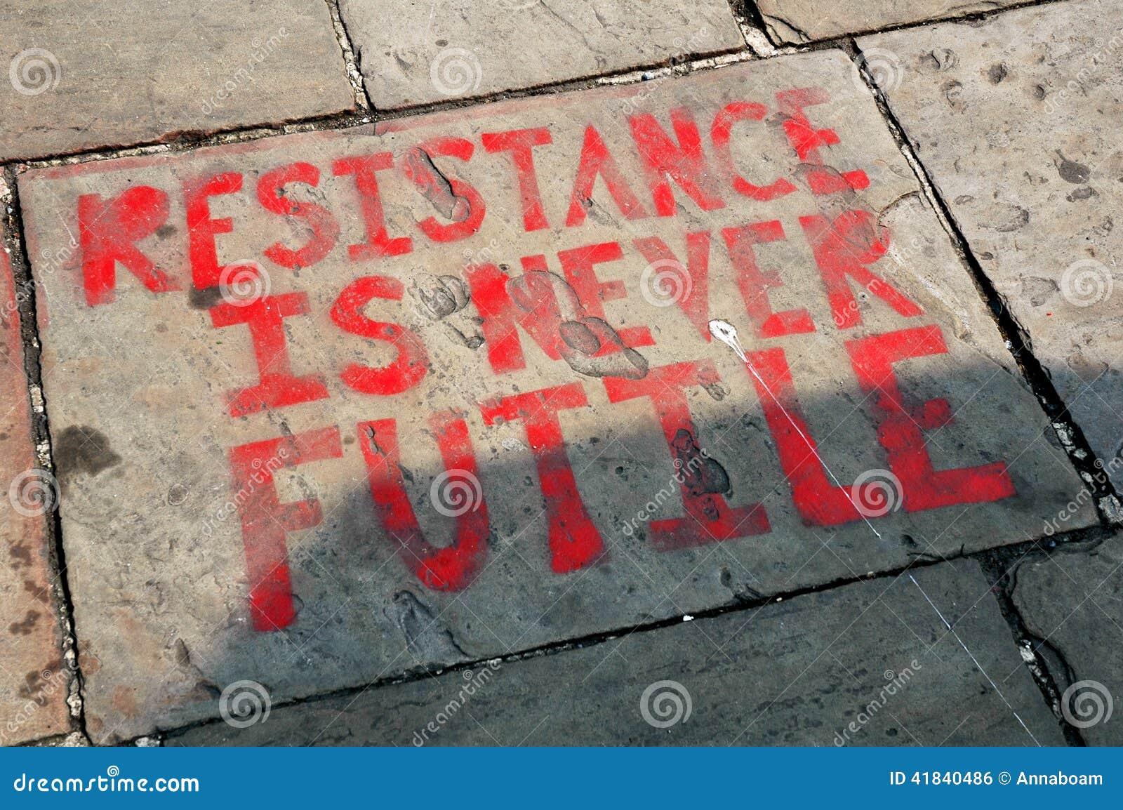 Graffiti text resistance is never futile