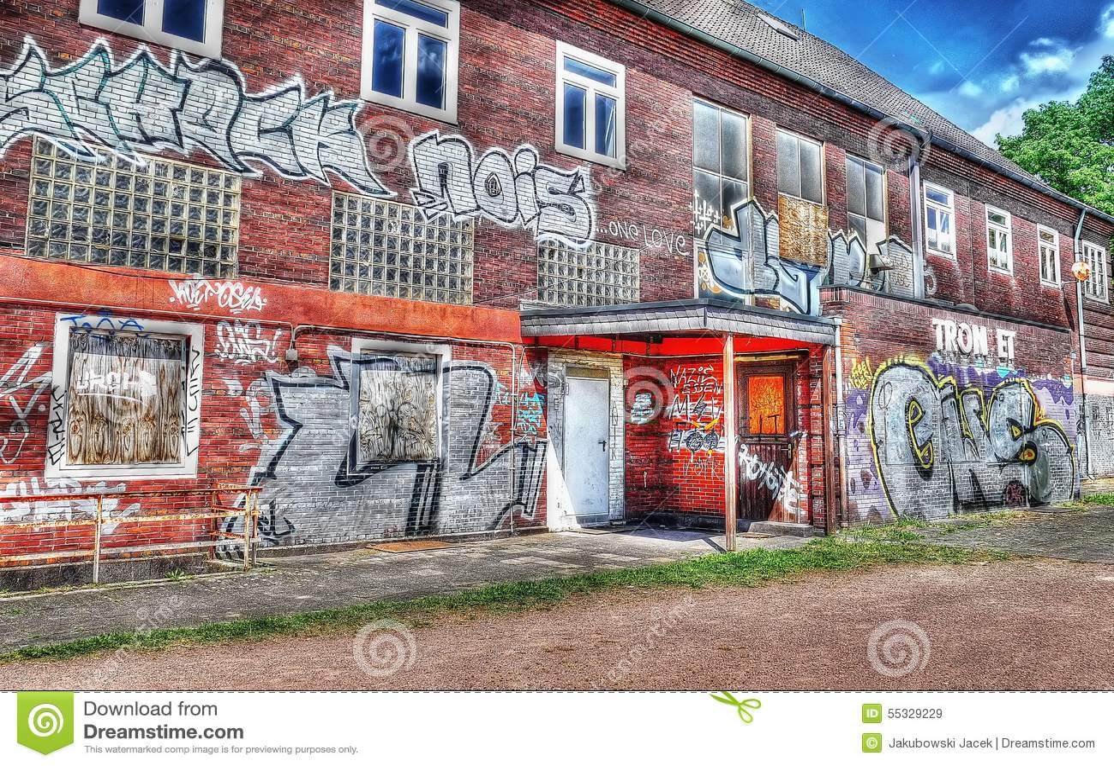 Graffiti Duisburg graffiti station duisburg trompet germany editorial stock