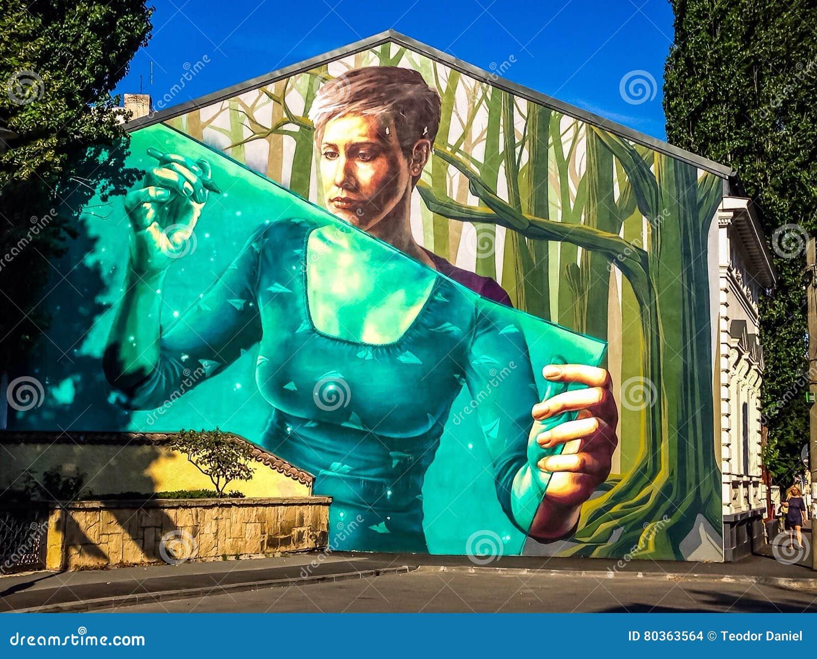 Graffiti uliczna sztuka w Bucharest