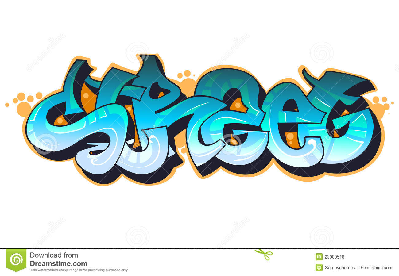 graffiti urban art stock vector illustration of modern 23080518 rh dreamstime com graffiti clipart black and white graffiti clipart free download
