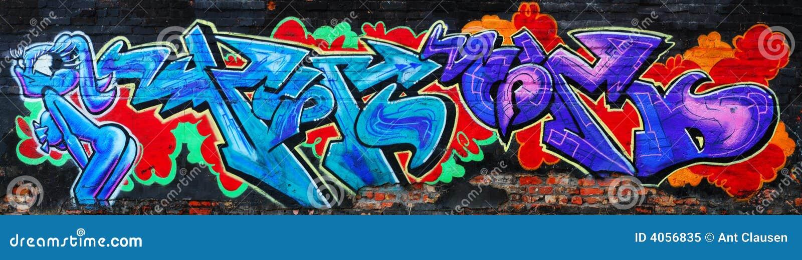 Graffiti urbani variopinti stupefacenti