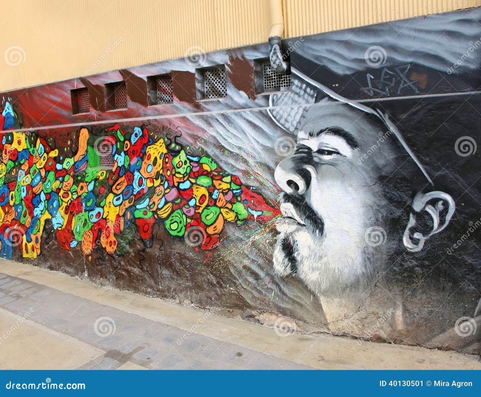 graffiti in valparaiso editorial photo