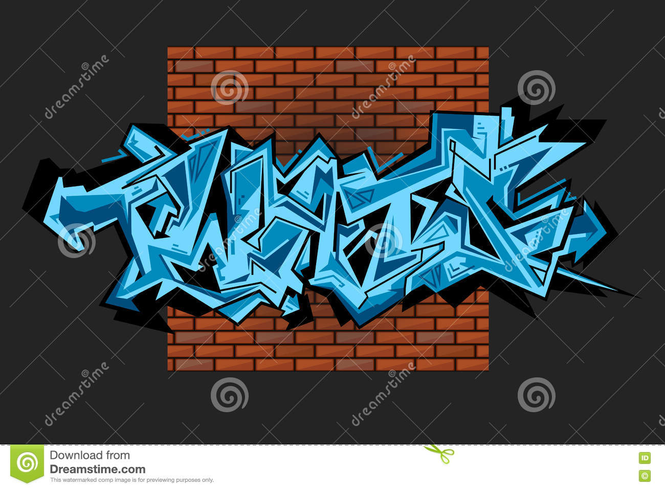 Graffiti Vector Urban Art Stock Vector Image 75269347