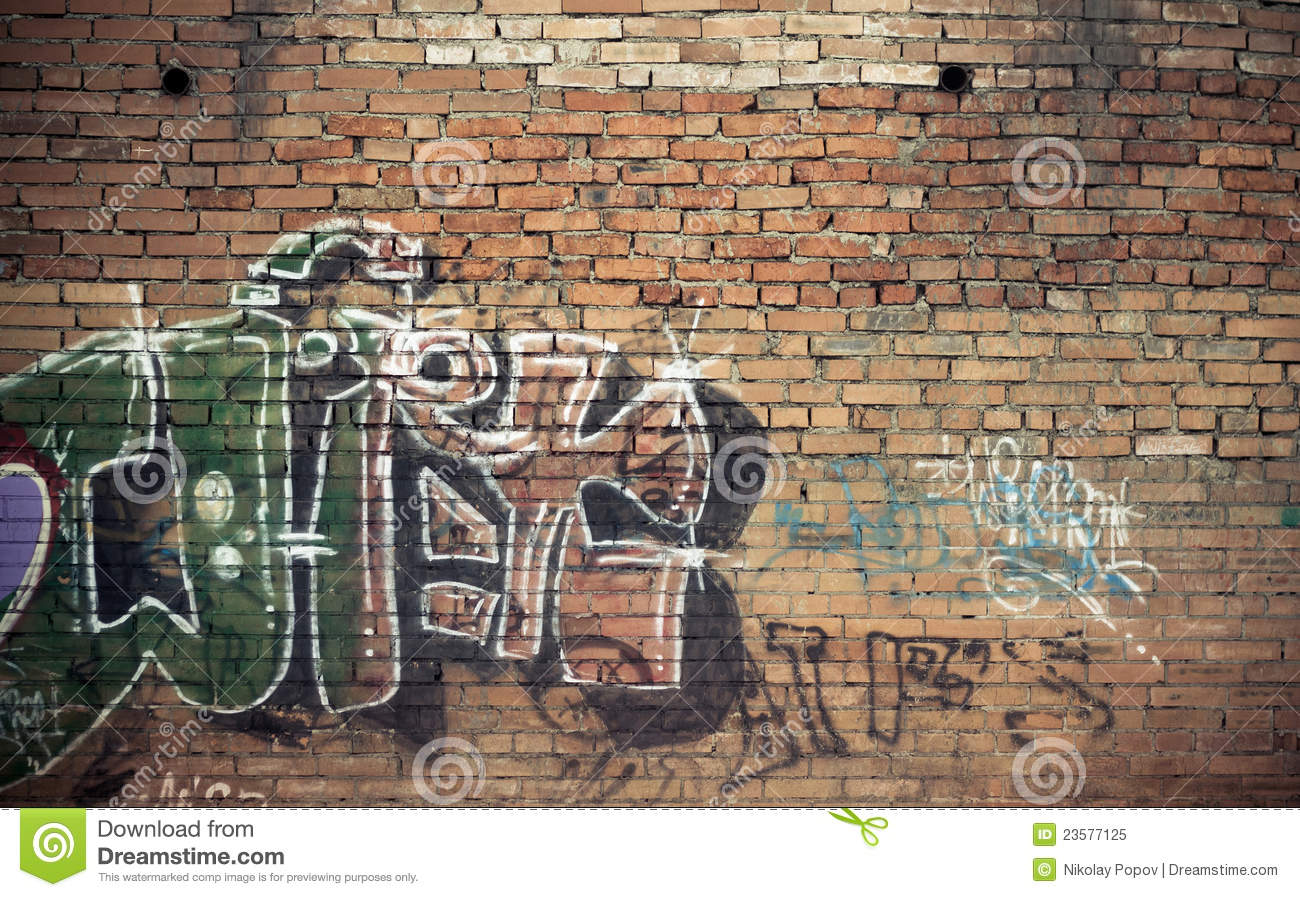 graffiti wall stock image image of weathered grafitti 23577125. Black Bedroom Furniture Sets. Home Design Ideas