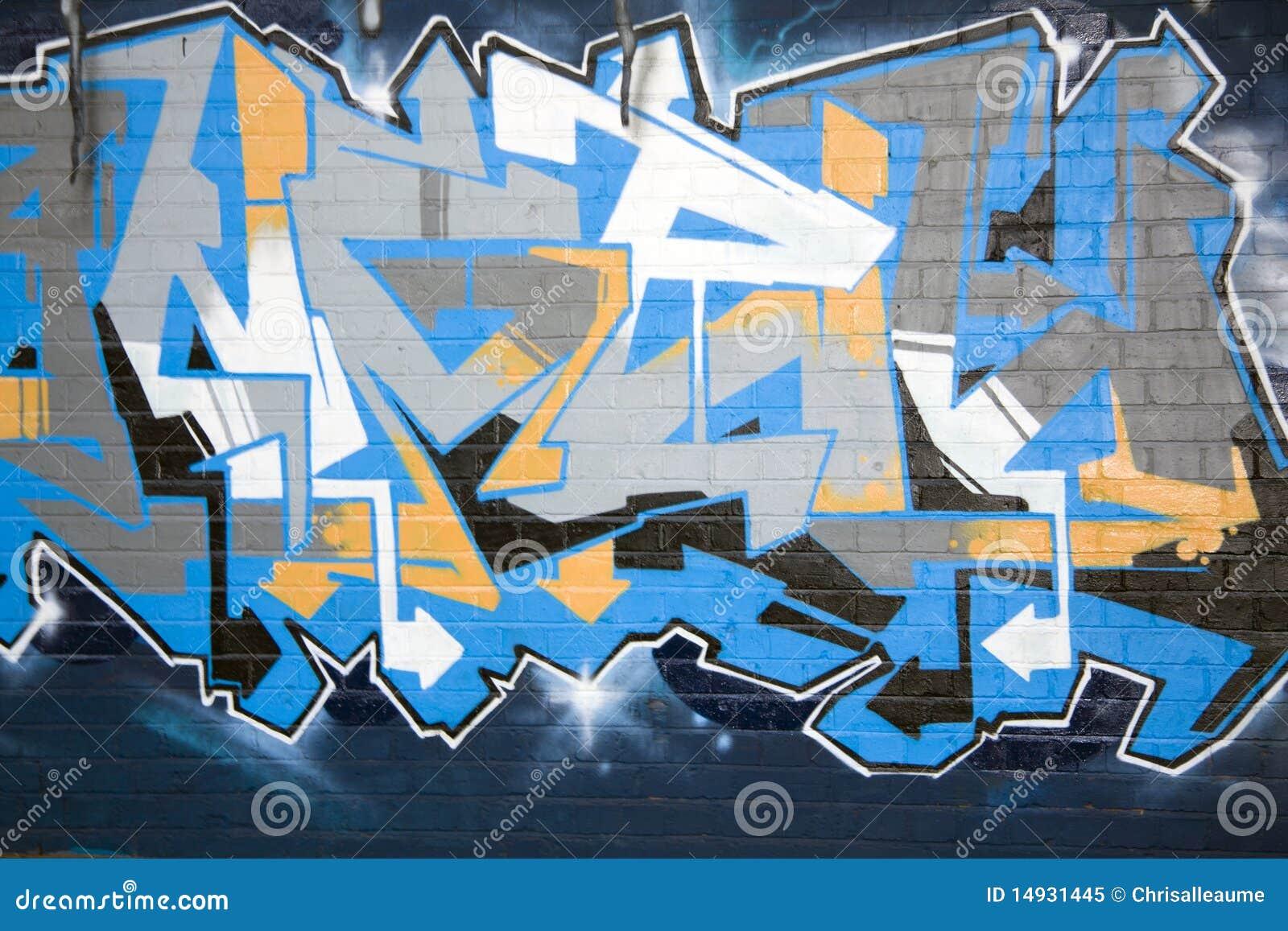 Graffiti on a wall, abstract