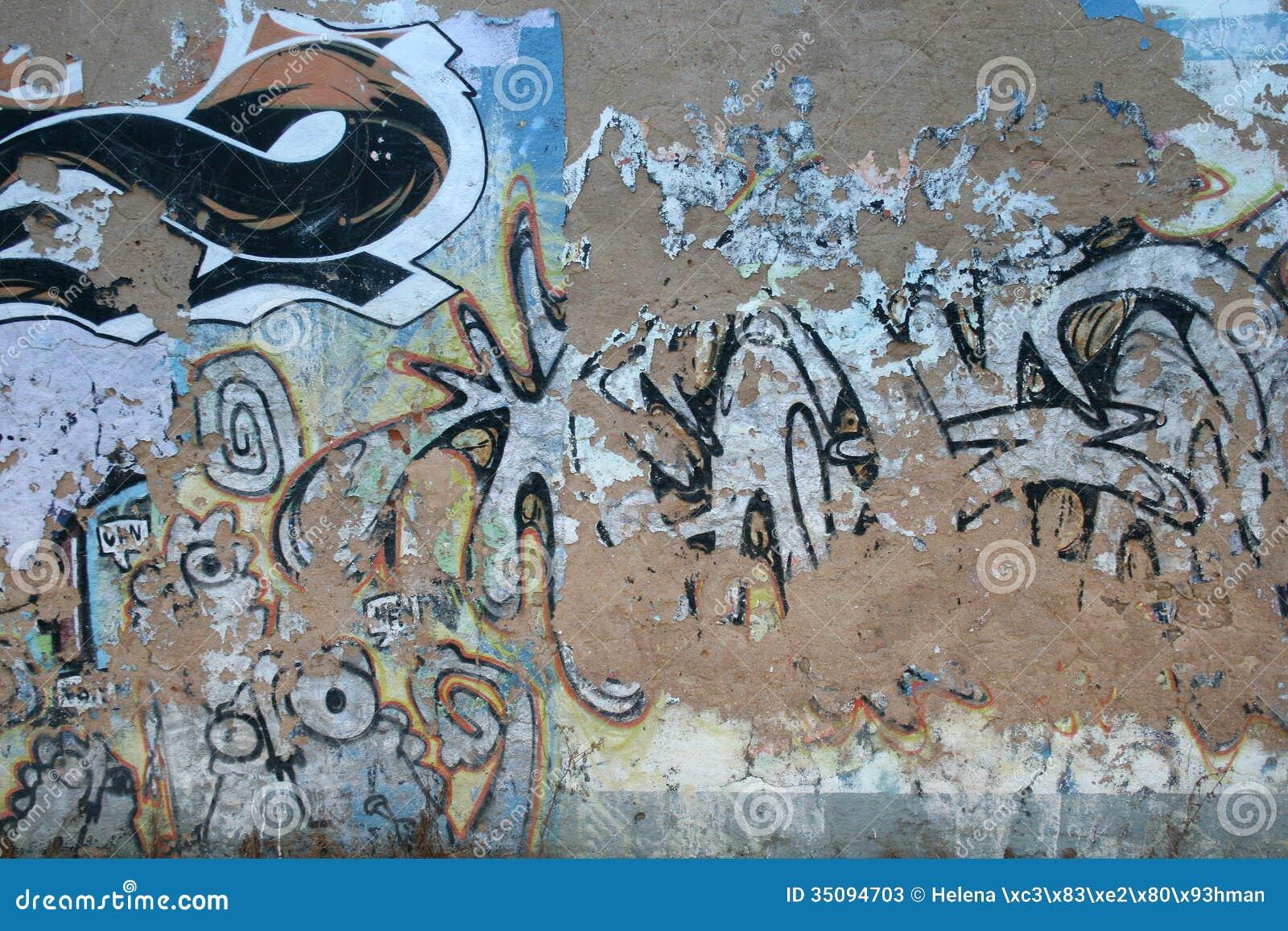 Cement Wall Graffiti : Graffiti wall background stock image of dirty
