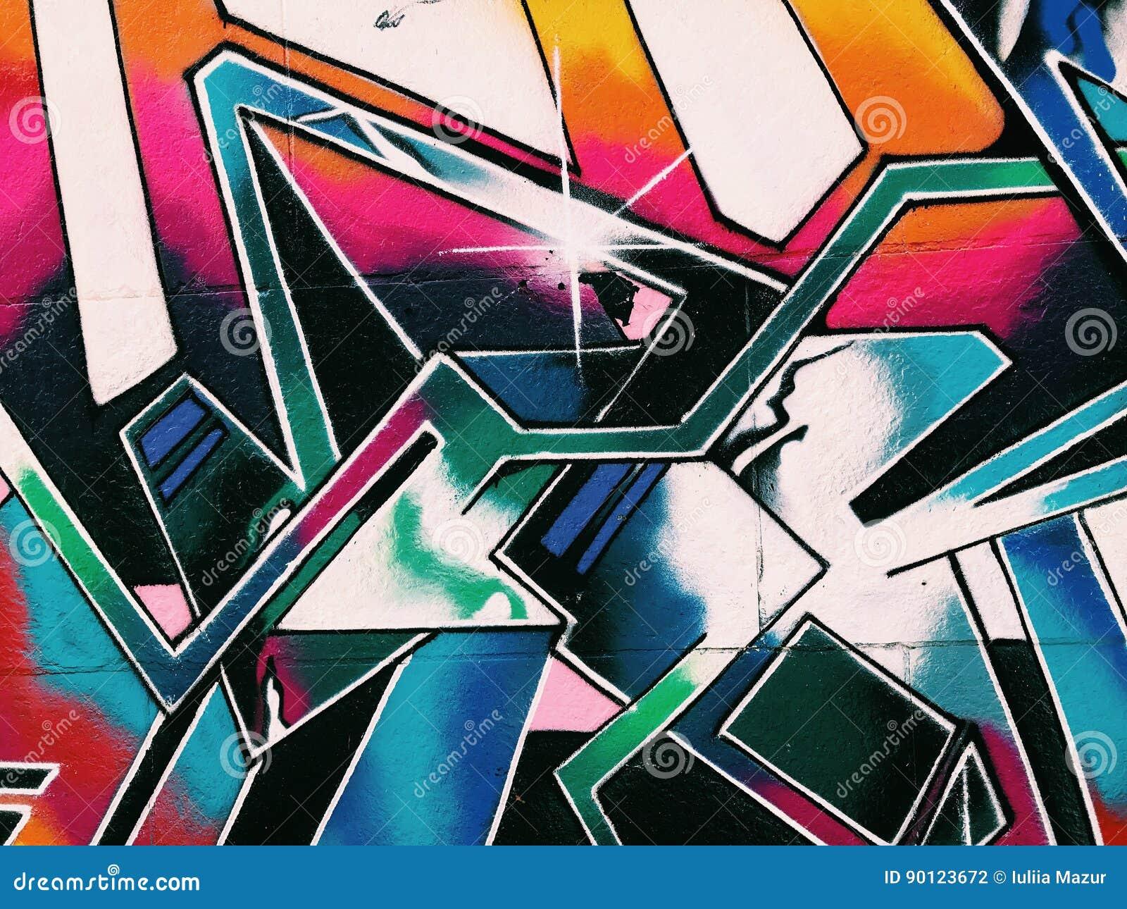 Graffiti wall background. Urban street art