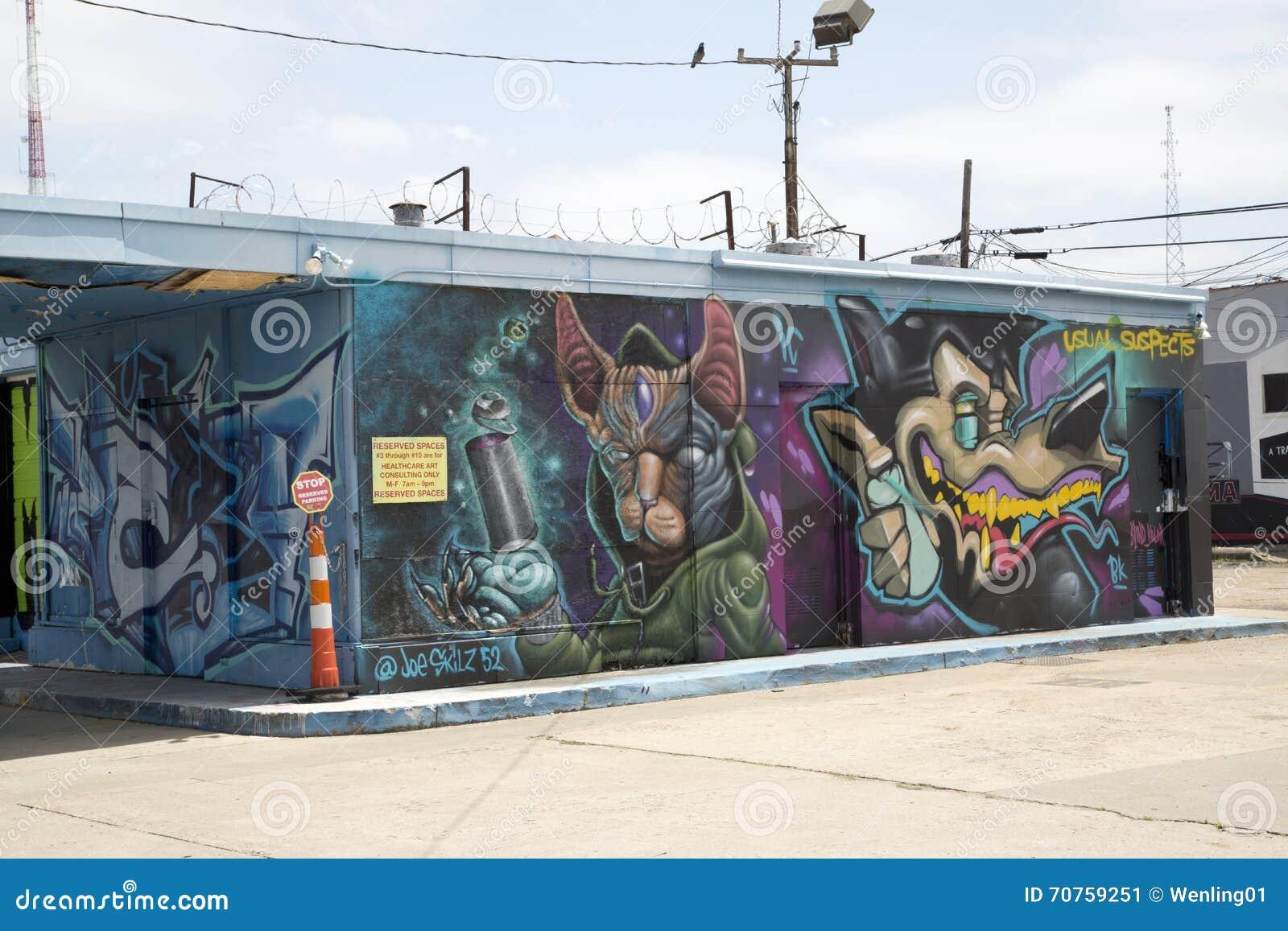 Graffiti wall dallas - Building Colorful Dallas Deep Ellum Graffiti Wall
