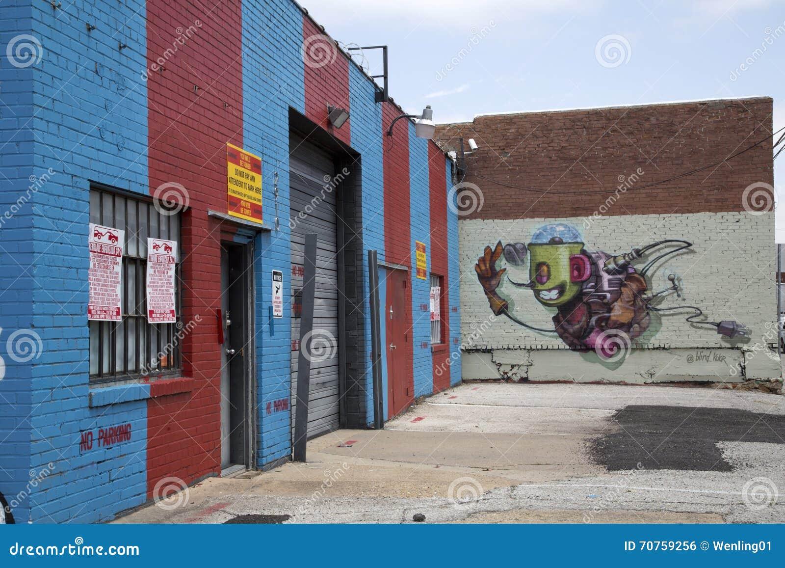 Graffiti wall dallas - Graffiti On The Wall Of Buildings Editorial Photo