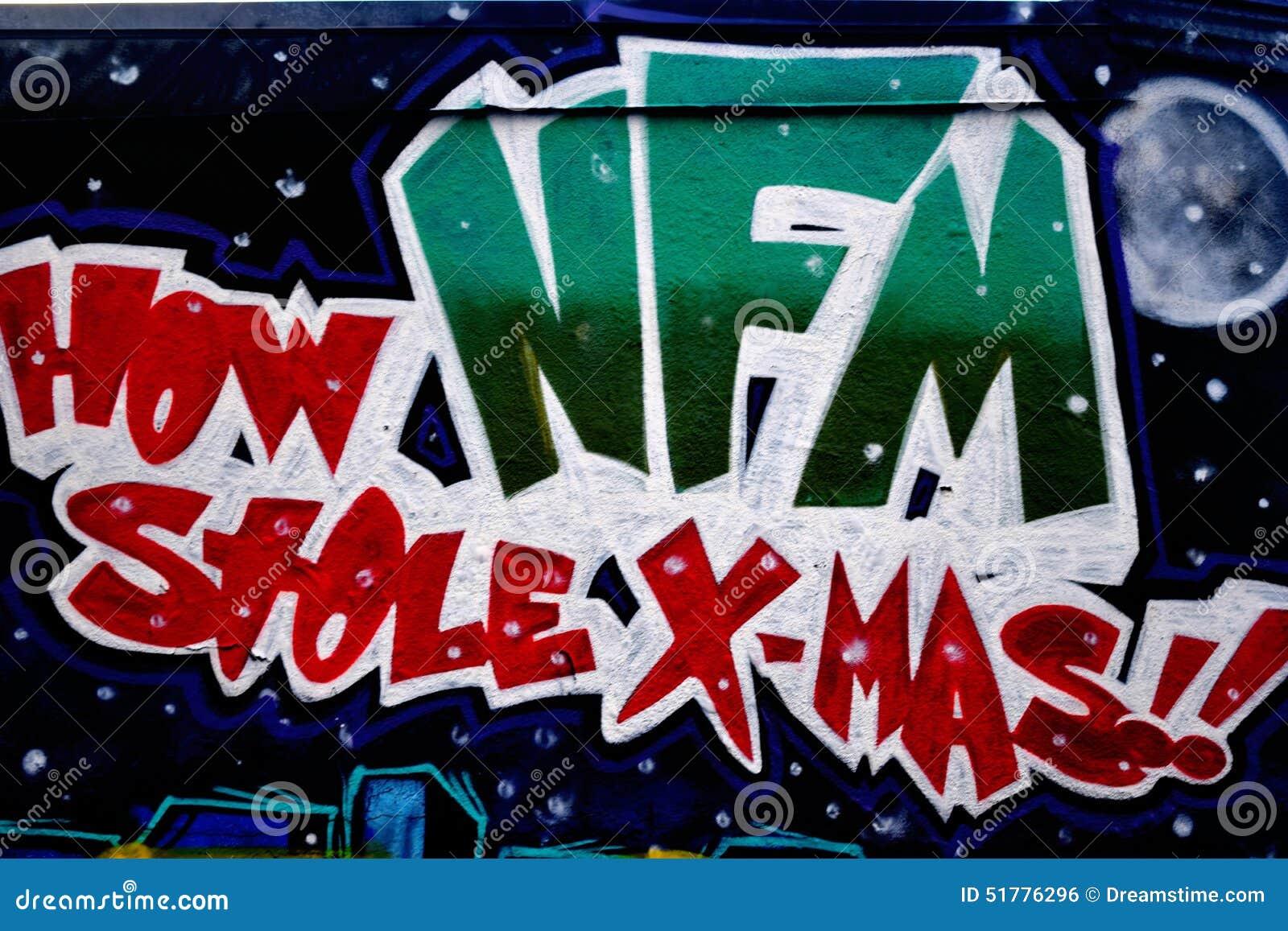 Graffiti wall dallas - Graffiti Wall Downtown Houston Tx Xmas Royalty Free Stock Image