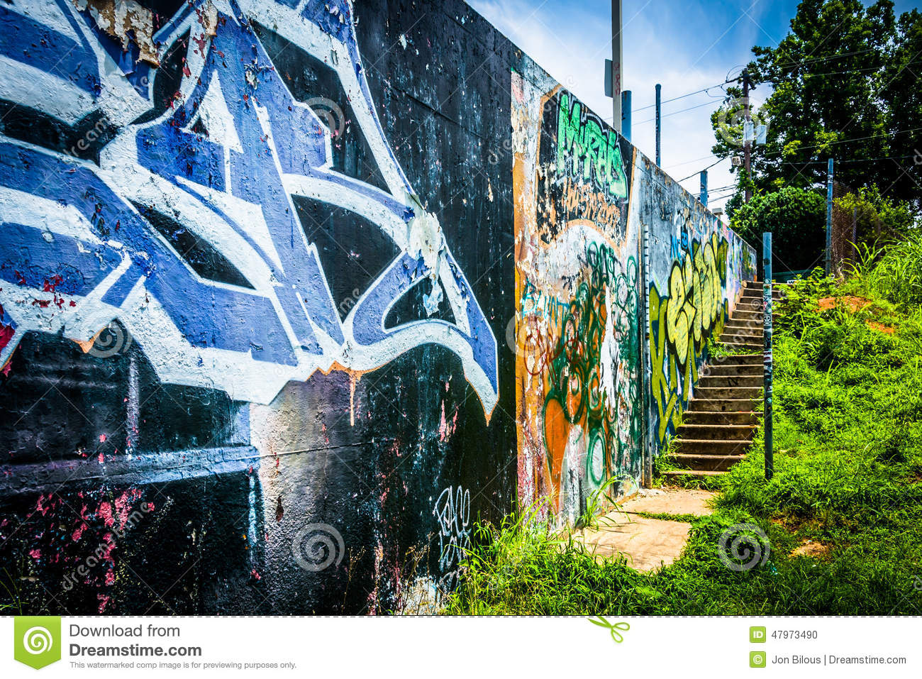 Graffiti wall atlanta - Graffiti On A Wall In Little Five Points Atlanta Georgia Editorial Image