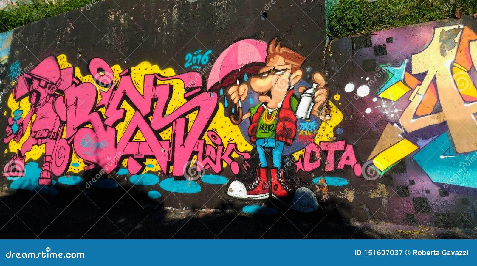 Graffiti Wall in Naples
